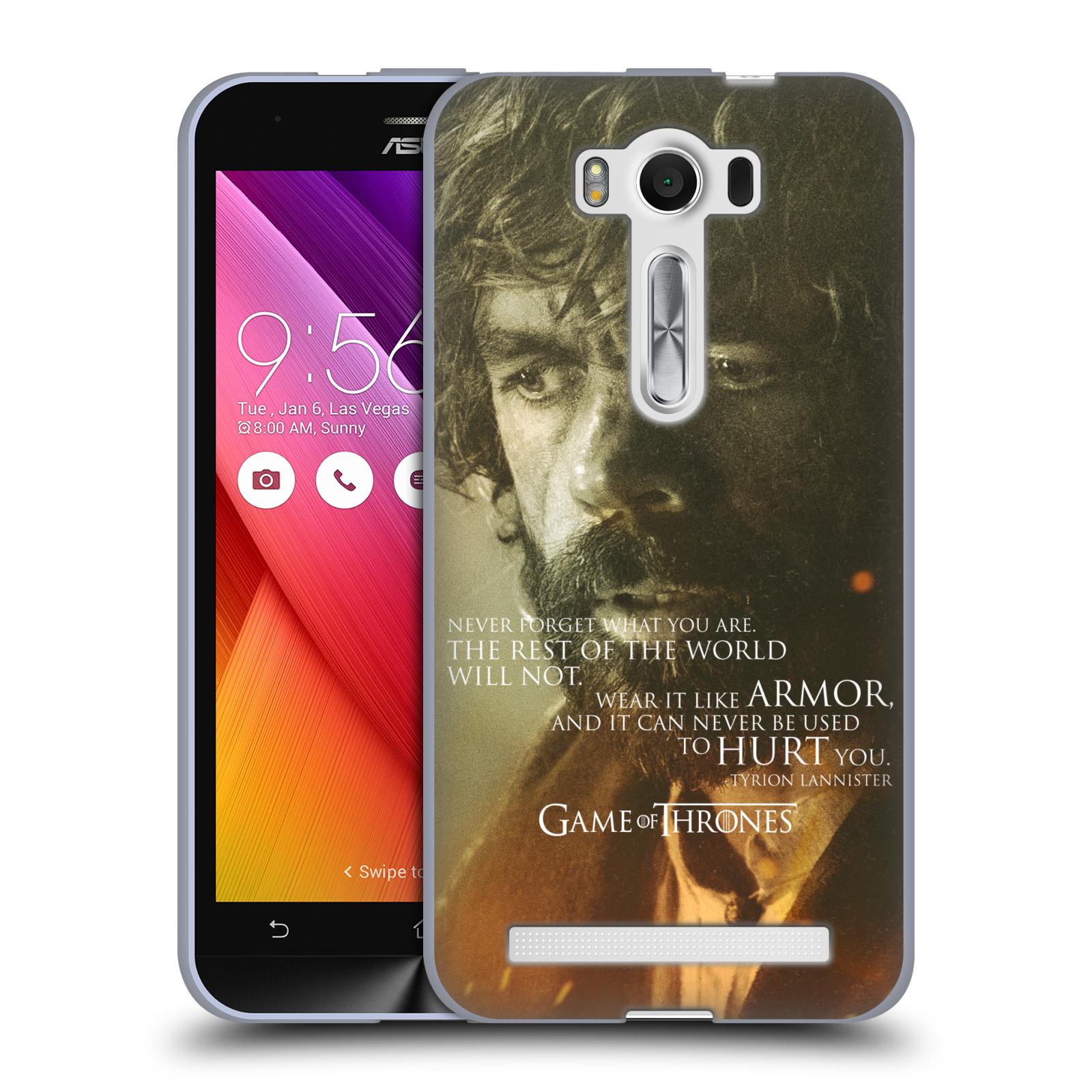 """Silikonové pouzdro na mobil Asus ZenFone 2 Laser ZE500KL HEAD CASE Hra o trůny - Tyrion Lannister (Silikonový kryt či obal na mobilní telefon s licencovaným motivem Hra o trůny - Game Of Thrones pro Asus ZenFone 2 Laser ZE500KL s 5"""" displejem)"""