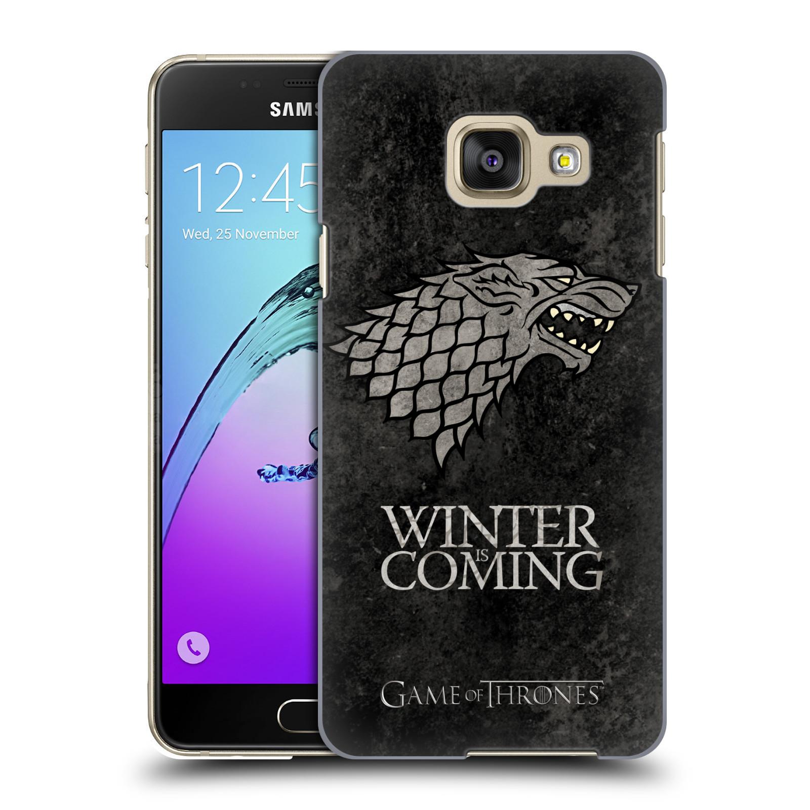Plastové pouzdro na mobil Samsung Galaxy A3 (2016) HEAD CASE Hra o trůny - Stark - Winter is coming