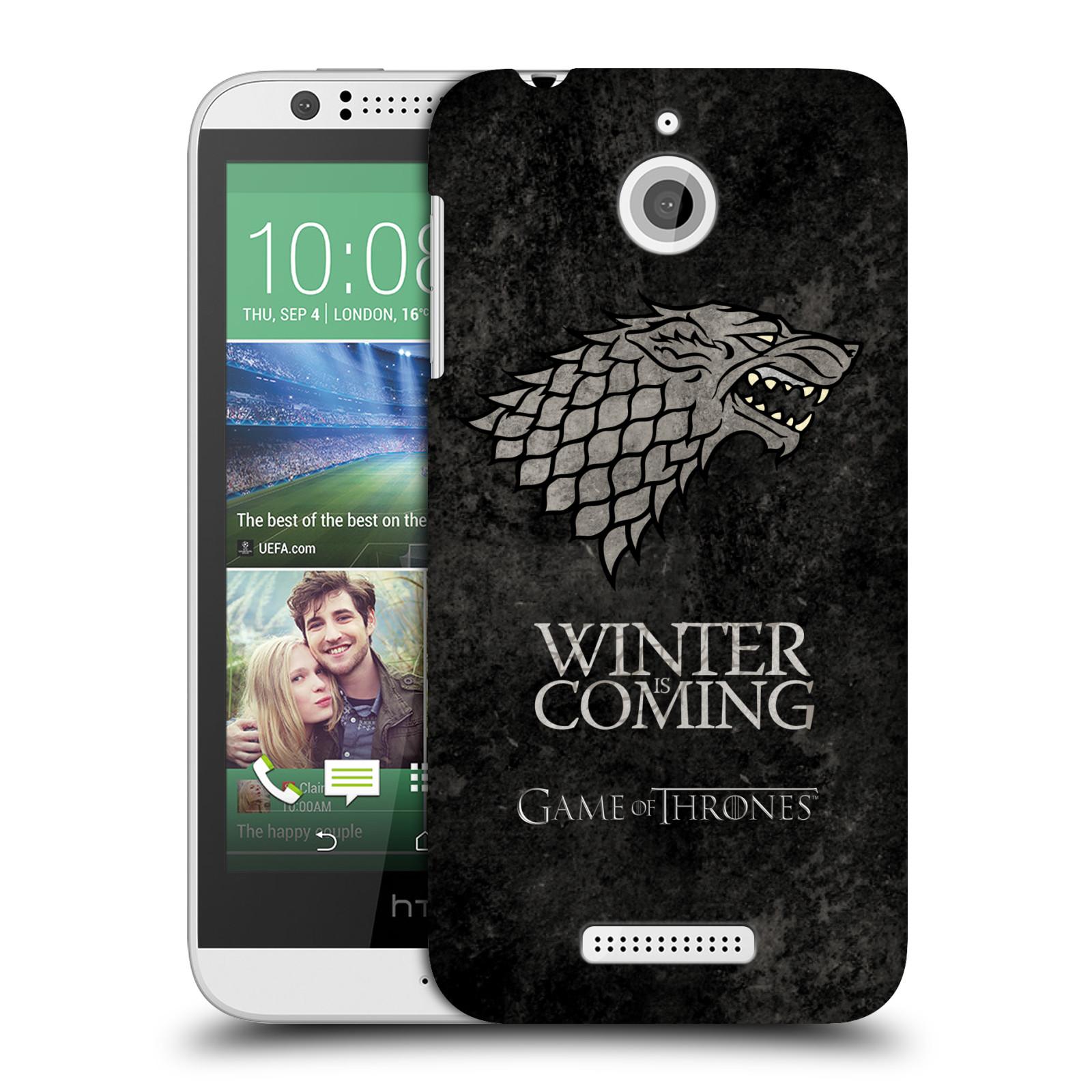 Plastové pouzdro na mobil HTC Desire 510 HEAD CASE Hra o trůny - Stark - Winter is coming