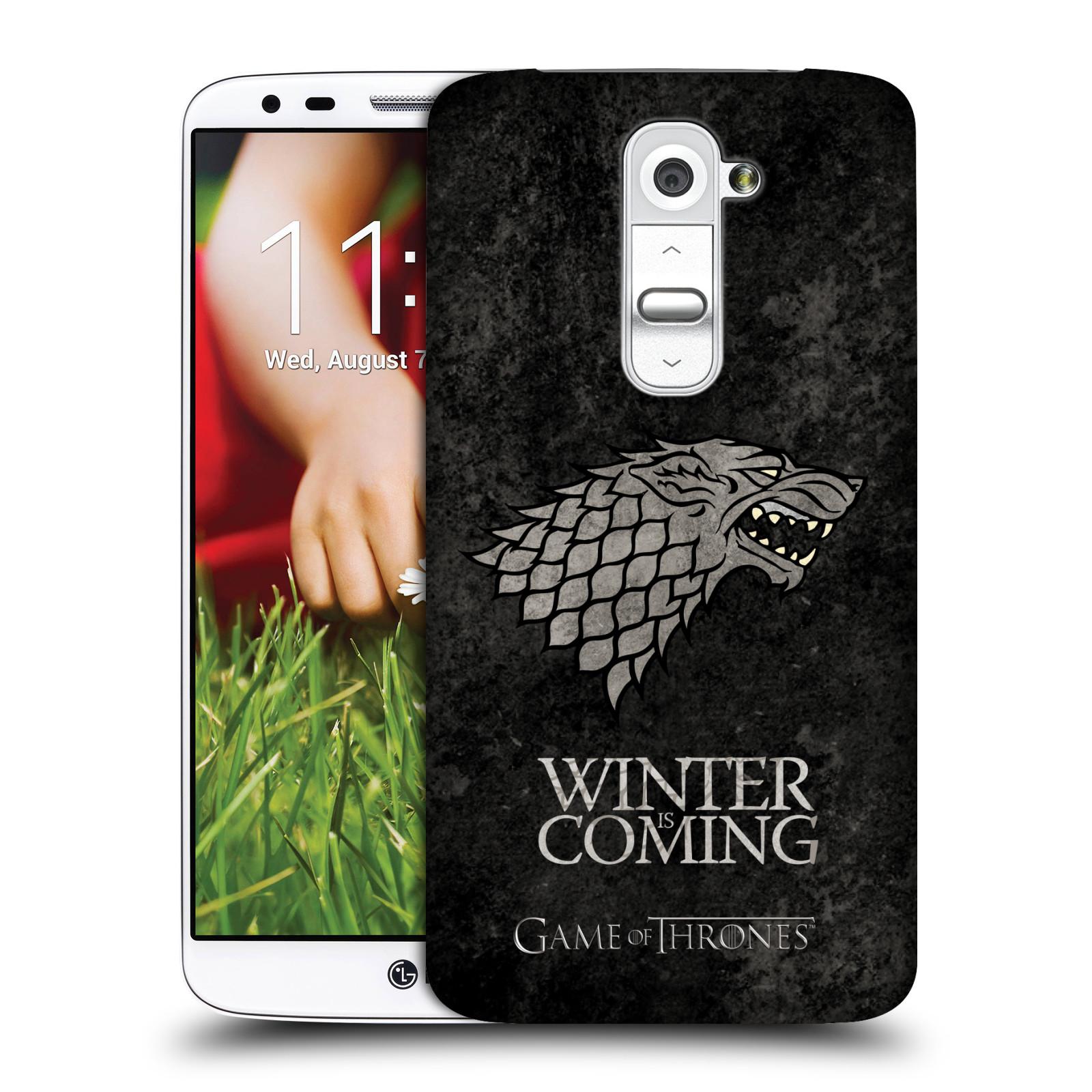 Plastové pouzdro na mobil LG G2 HEAD CASE Hra o trůny - Stark - Winter is coming