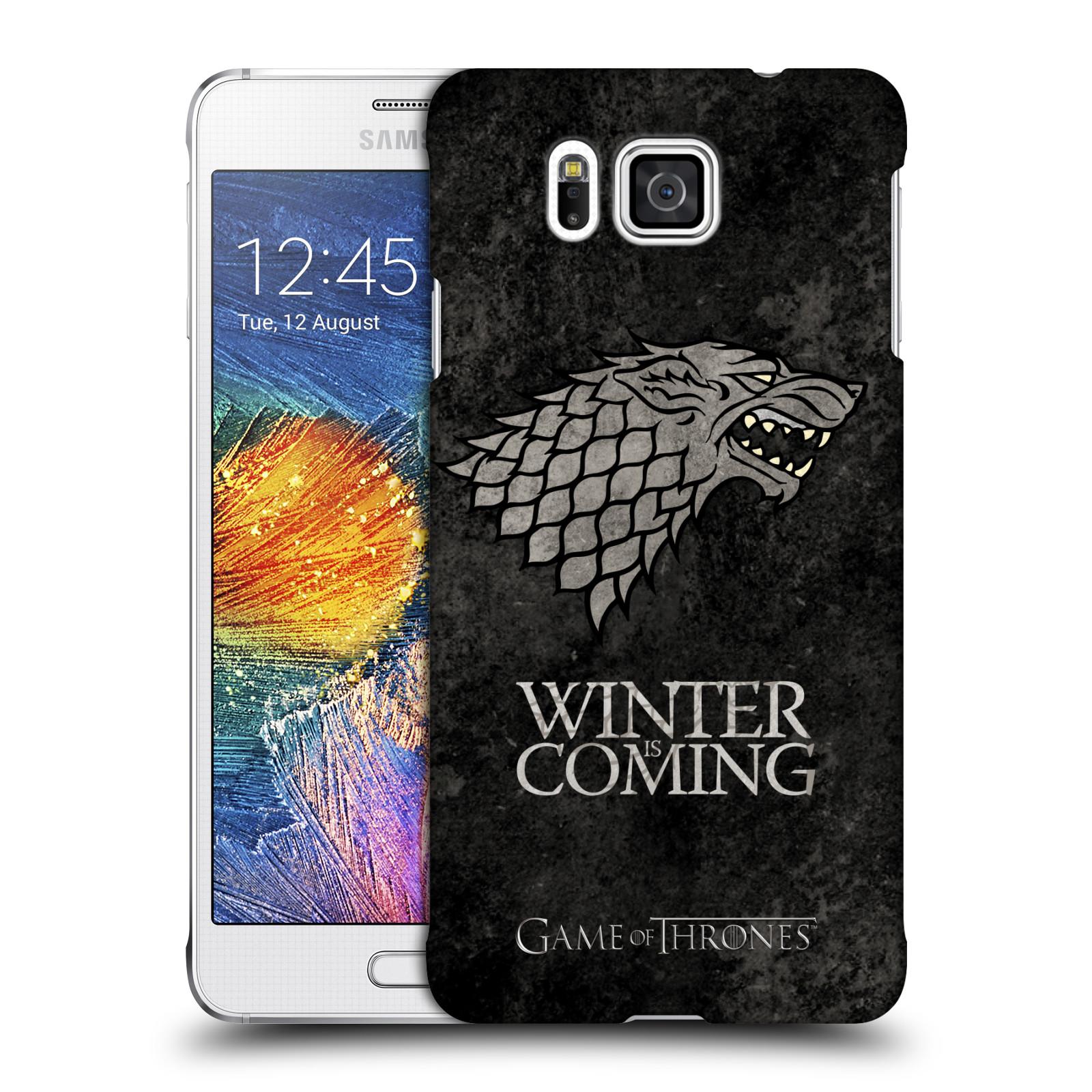 Plastové pouzdro na mobil Samsung Galaxy Alpha HEAD CASE Hra o trůny - Stark - Winter is coming