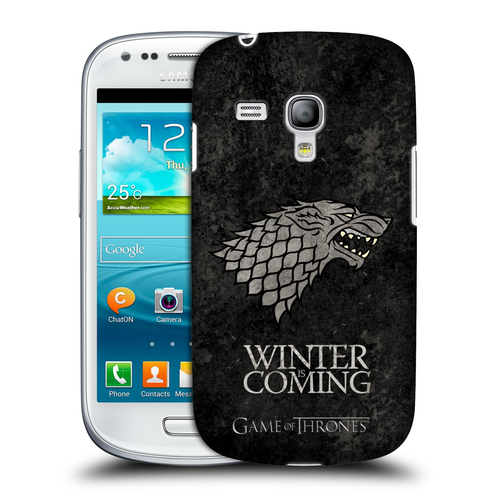 Plastové pouzdro na mobil Samsung Galaxy S III Mini VE HEAD CASE Hra o trůny - Stark - Winter is coming (Kryt či obal na mobilní telefon s licencovaným motivem Hra o trůny / Game Of Thrones pro Samsung Galaxy S3 Mini VE GT-i8200)