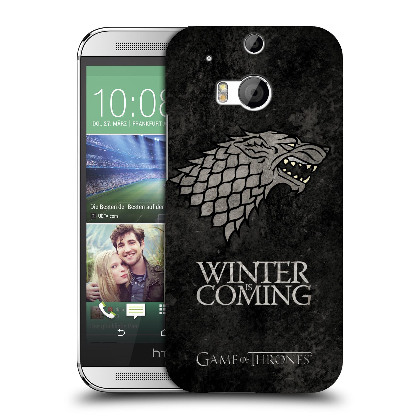 Plastové pouzdro na mobil HTC ONE M8 HEAD CASE Hra o trůny - Stark - Winter is coming