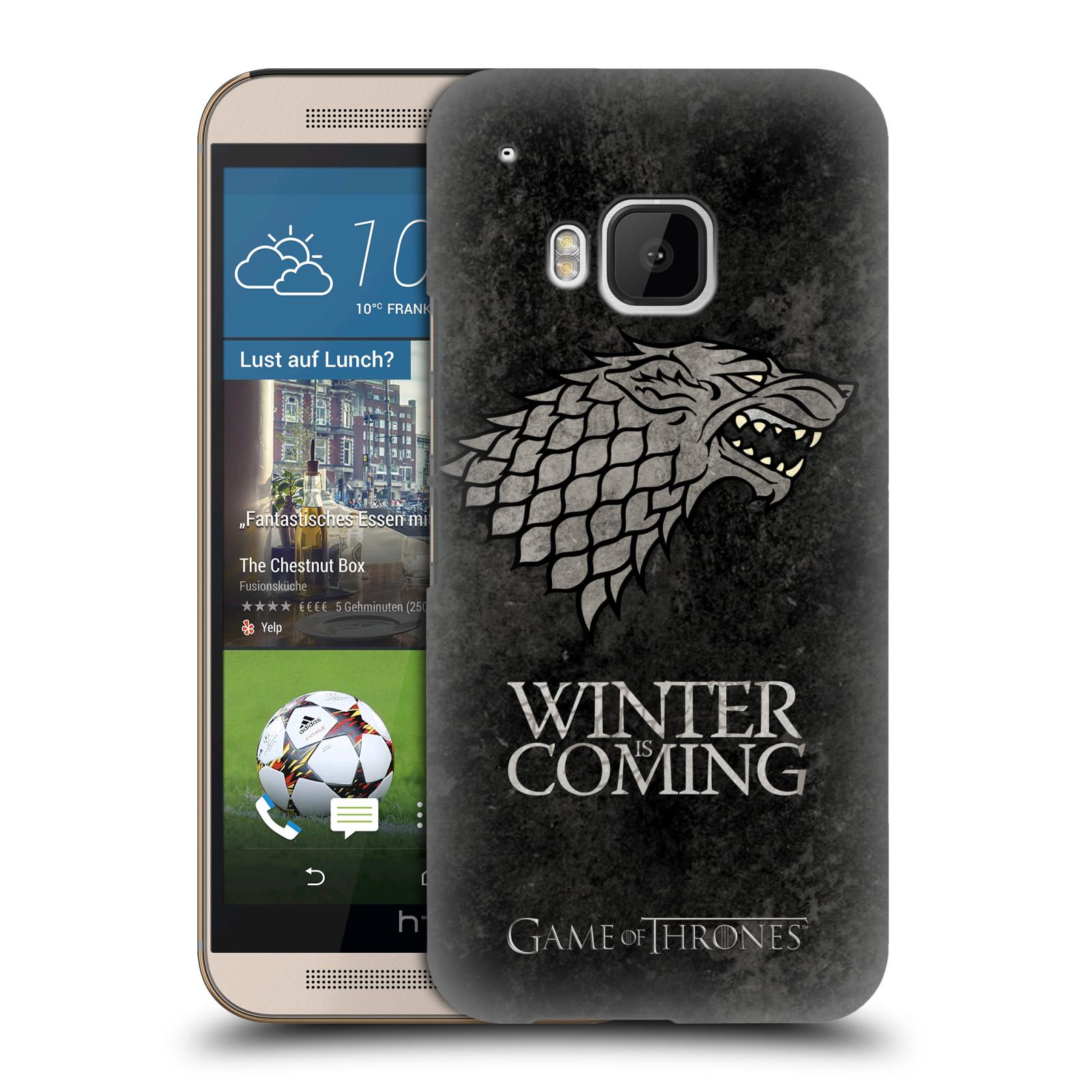 Plastové pouzdro na mobil HTC ONE M9 HEAD CASE Hra o trůny - Stark - Winter is coming