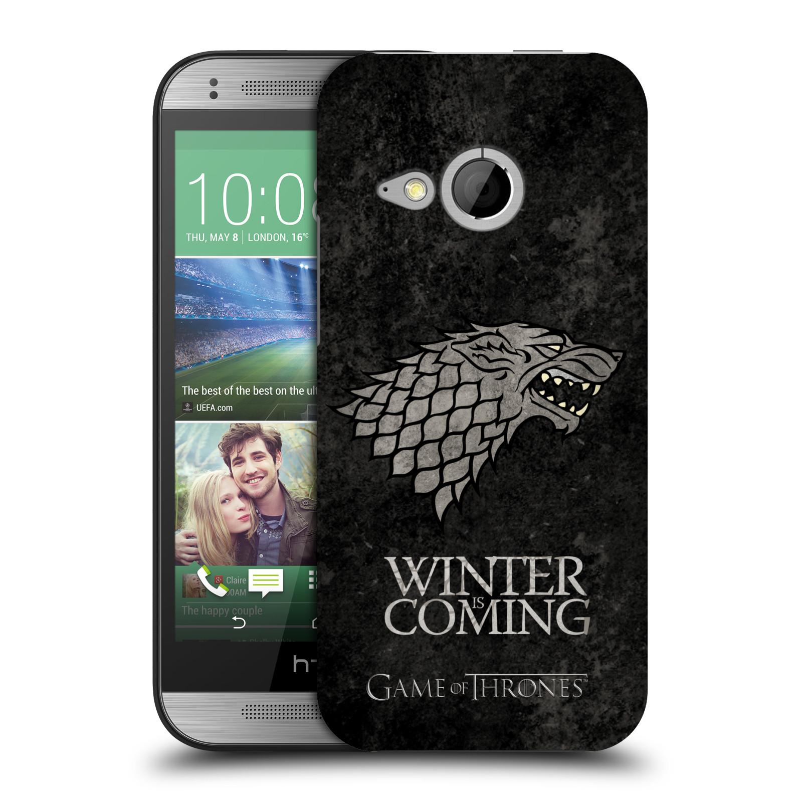 Plastové pouzdro na mobil HTC ONE Mini 2 HEAD CASE Hra o trůny - Stark - Winter is coming