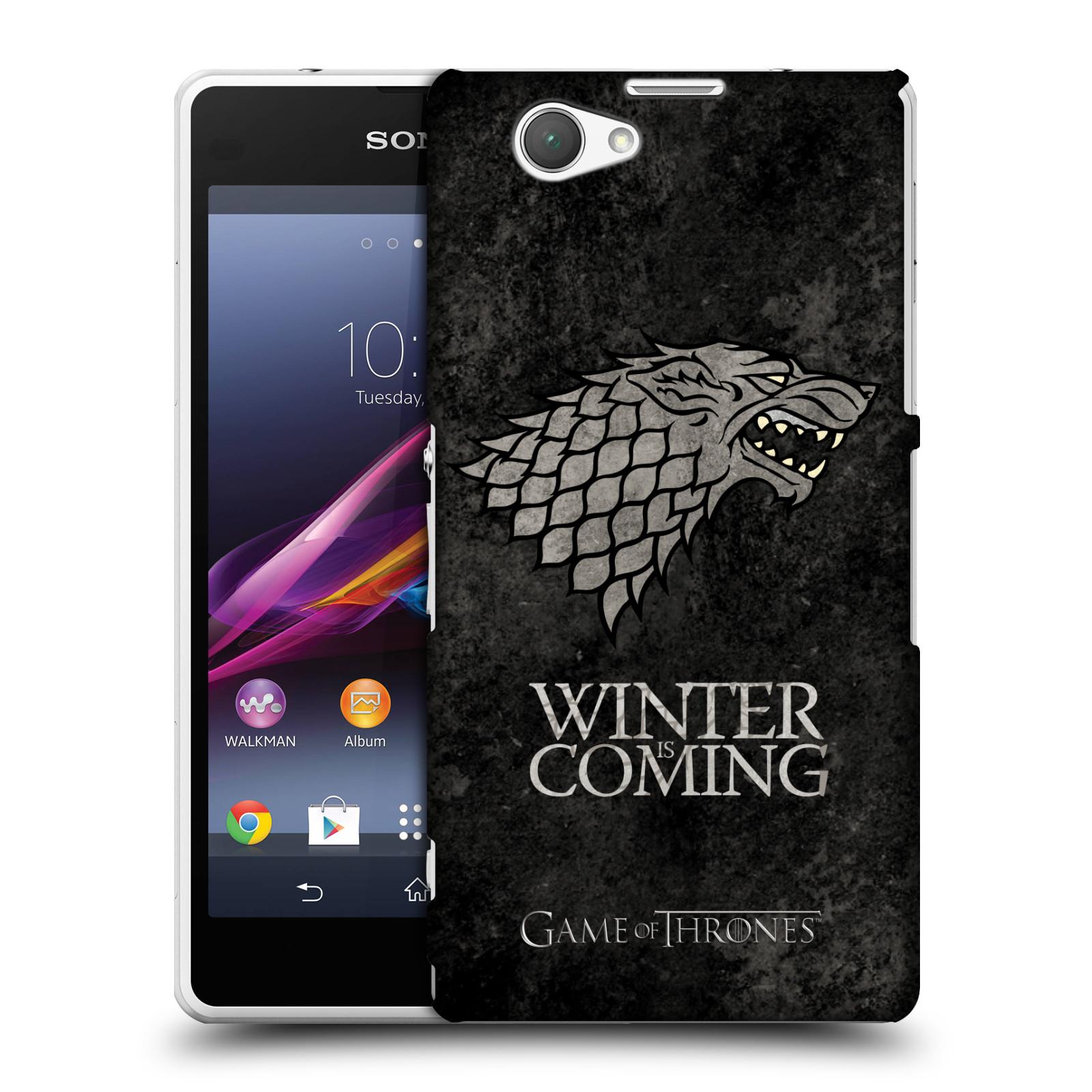 Plastové pouzdro na mobil Sony Xperia Z1 Compact D5503 HEAD CASE Hra o trůny - Stark - Winter is coming