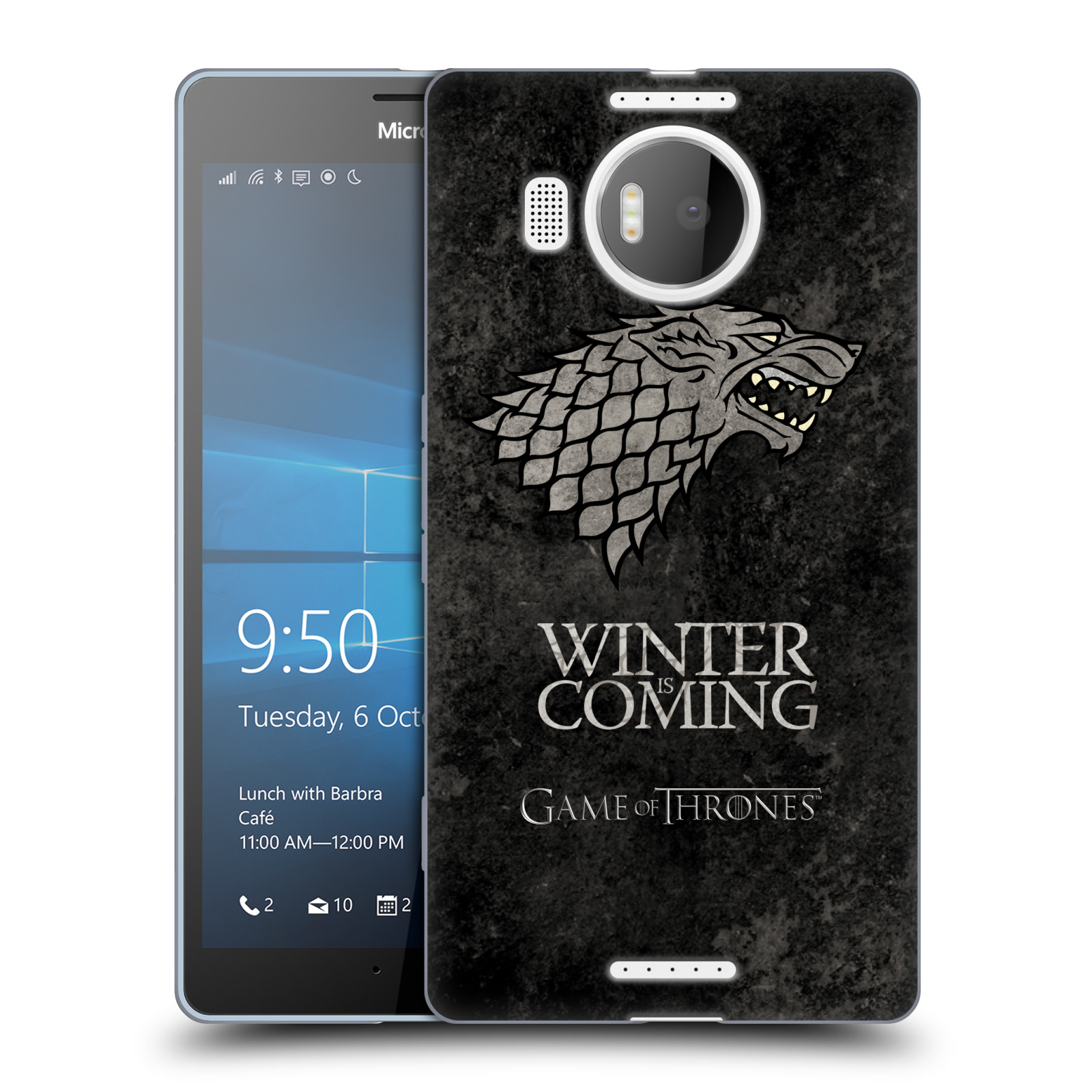 Silikonové pouzdro na mobil Microsoft Lumia 950 XL HEAD CASE Hra o trůny - Stark - Winter is coming