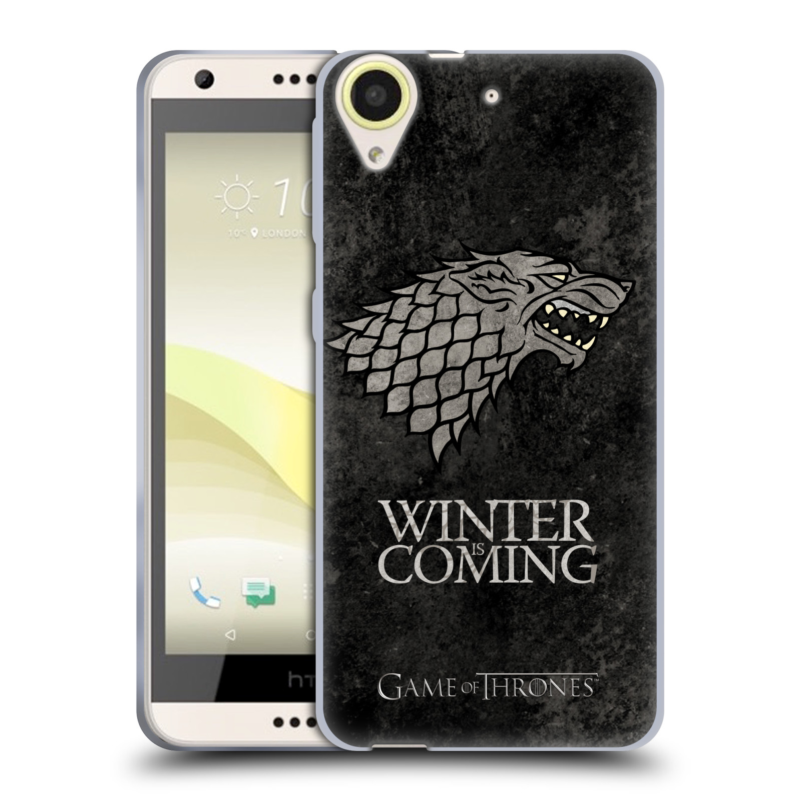 Silikonové pouzdro na mobil HTC Desire 650 HEAD CASE Hra o trůny - Stark - Winter is coming