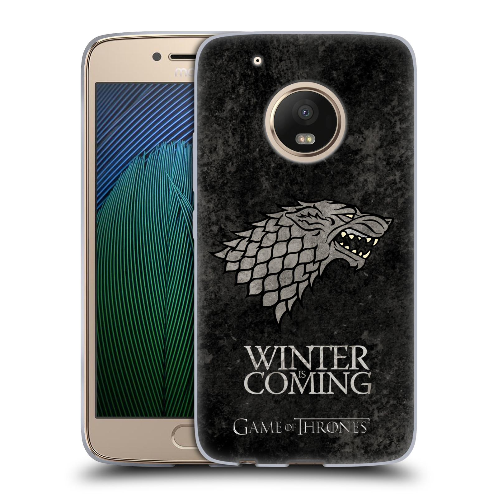 Silikonové pouzdro na mobil Lenovo Moto G5 Plus - Head Case Hra o trůny - Stark - Winter is coming