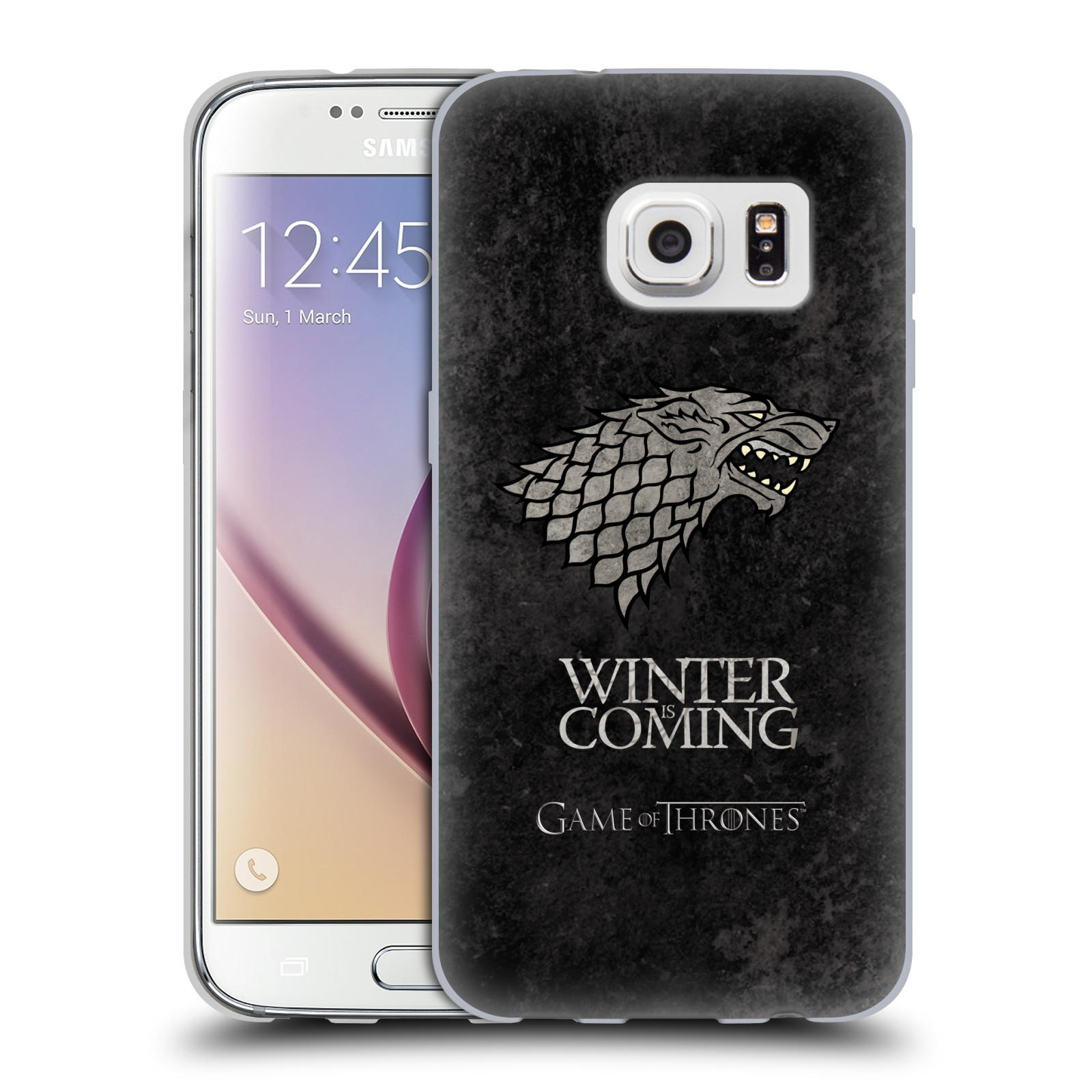 Silikonové pouzdro na mobil Samsung Galaxy S7 HEAD CASE Hra o trůny - Stark - Winter is coming