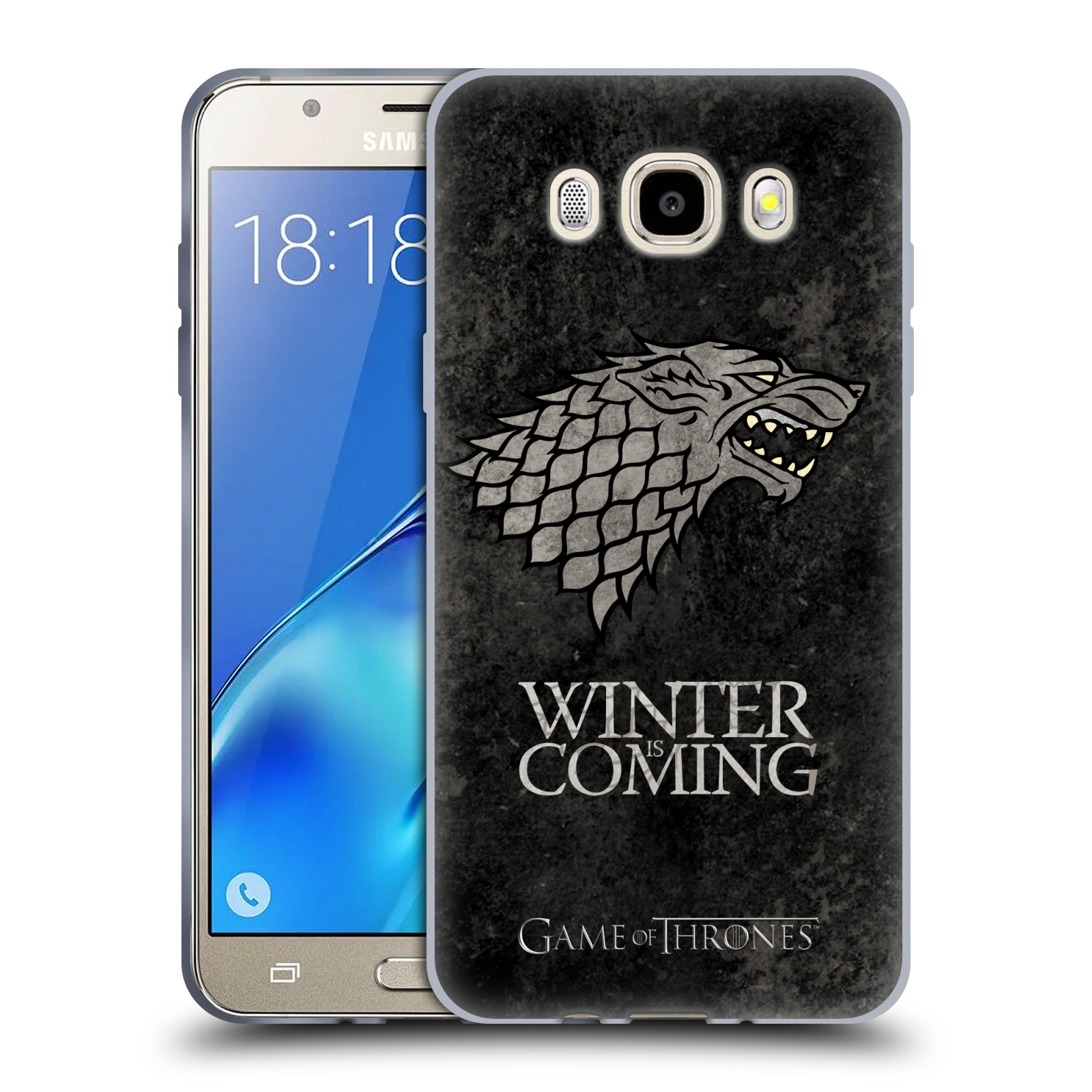 Silikonové pouzdro na mobil Samsung Galaxy J7 (2016) HEAD CASE Hra o trůny - Stark - Winter is coming