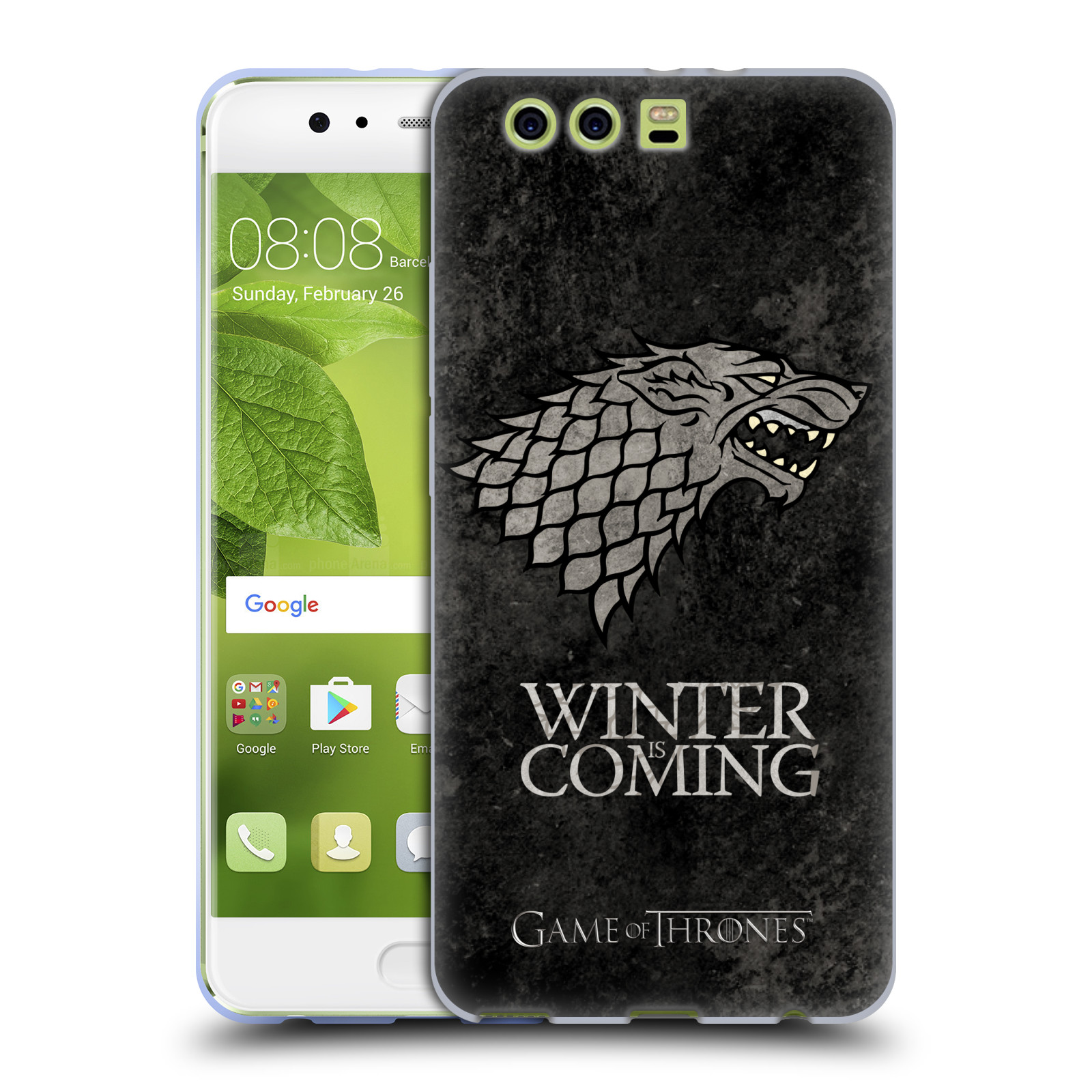 Silikonové pouzdro na mobil Huawei P10 Plus - Head Case Hra o trůny - Stark - Winter is coming