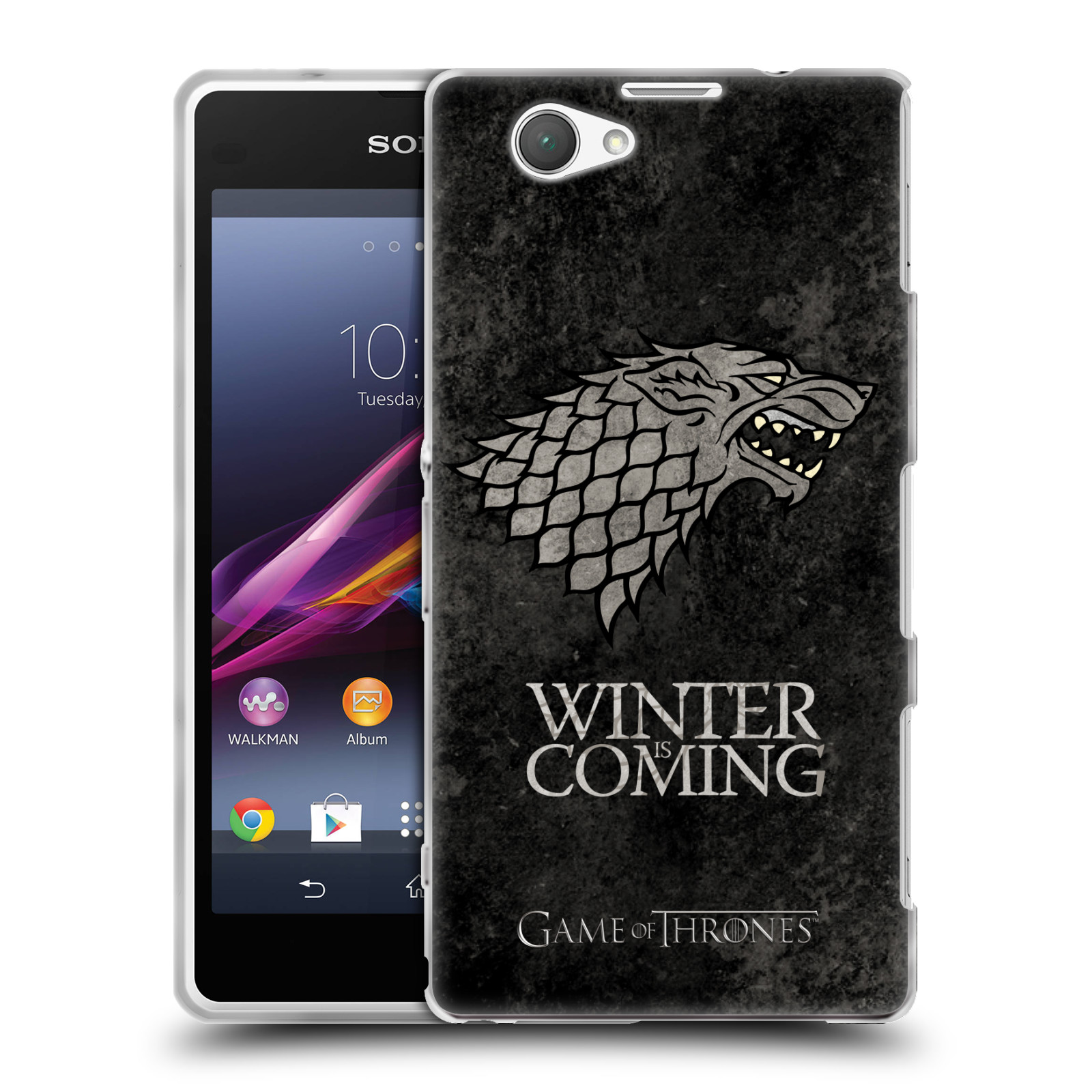 Silikonové pouzdro na mobil Sony Xperia Z1 Compact D5503 HEAD CASE Hra o trůny - Stark - Winter is coming
