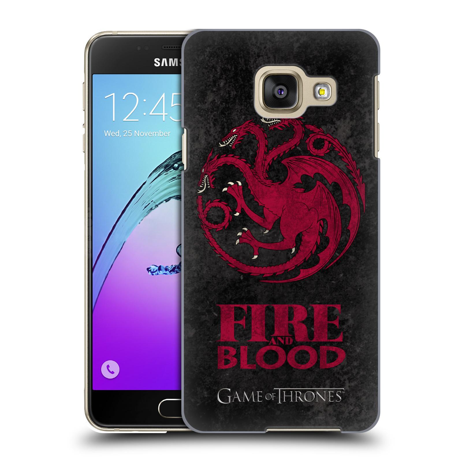 Plastové pouzdro na mobil Samsung Galaxy A3 (2016) HEAD CASE Hra o trůny - Sigils Targaryen - Fire and Blood