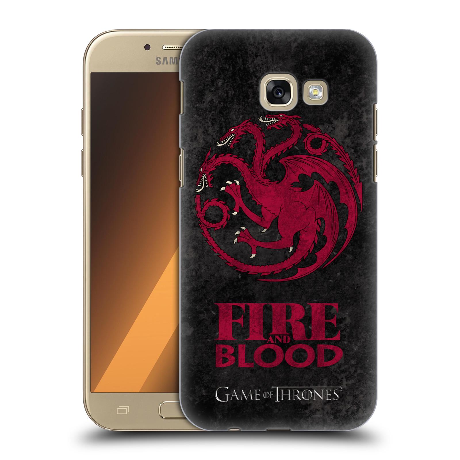 Plastové pouzdro na mobil Samsung Galaxy A5 (2017) HEAD CASE Hra o trůny - Sigils Targaryen - Fire and Blood