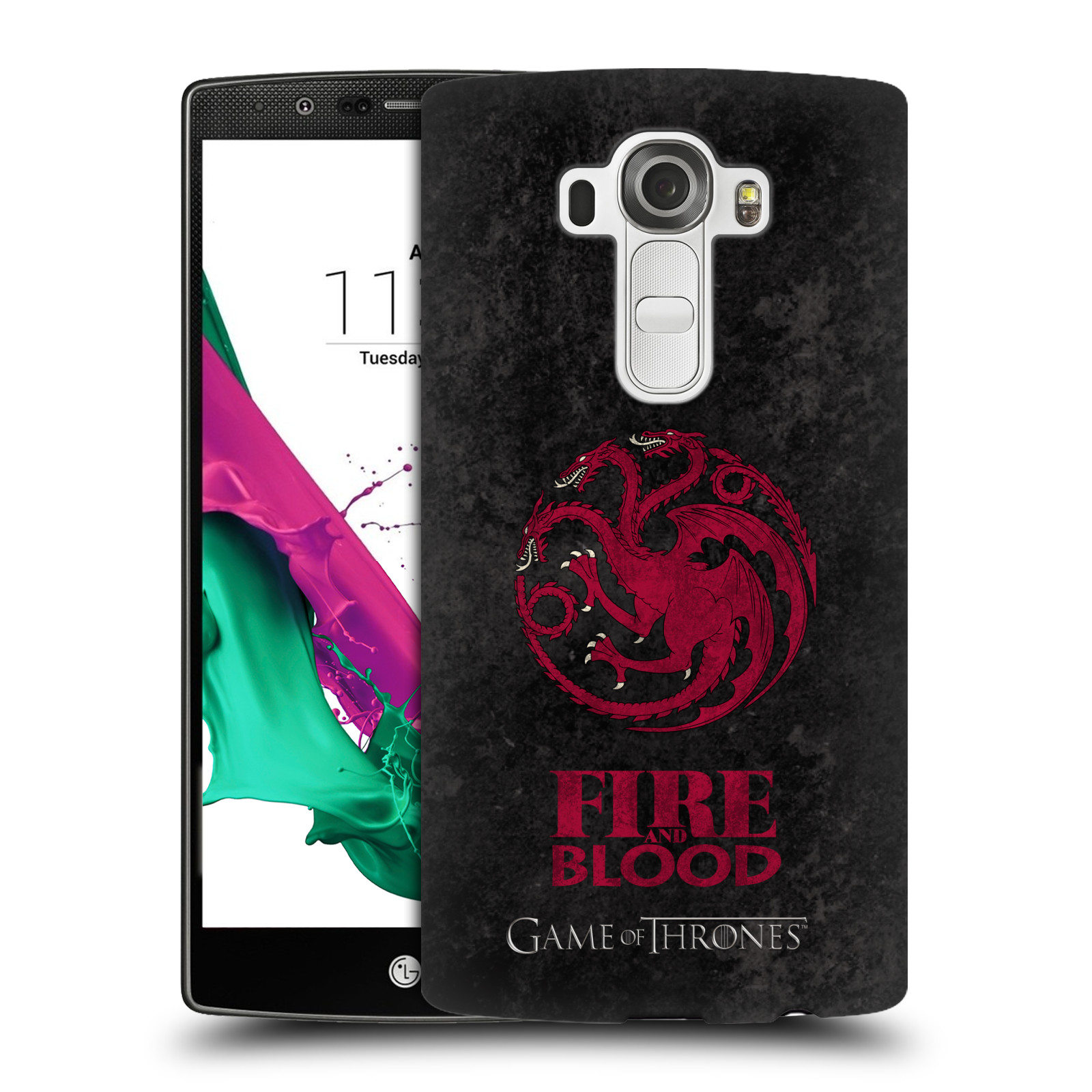 Plastové pouzdro na mobil LG G4 HEAD CASE Hra o trůny - Sigils Targaryen - Fire and Blood (Plastový kryt či obal na mobilní telefon s licencovaným motivem Hra o trůny - Game Of Thrones pro LG G4)