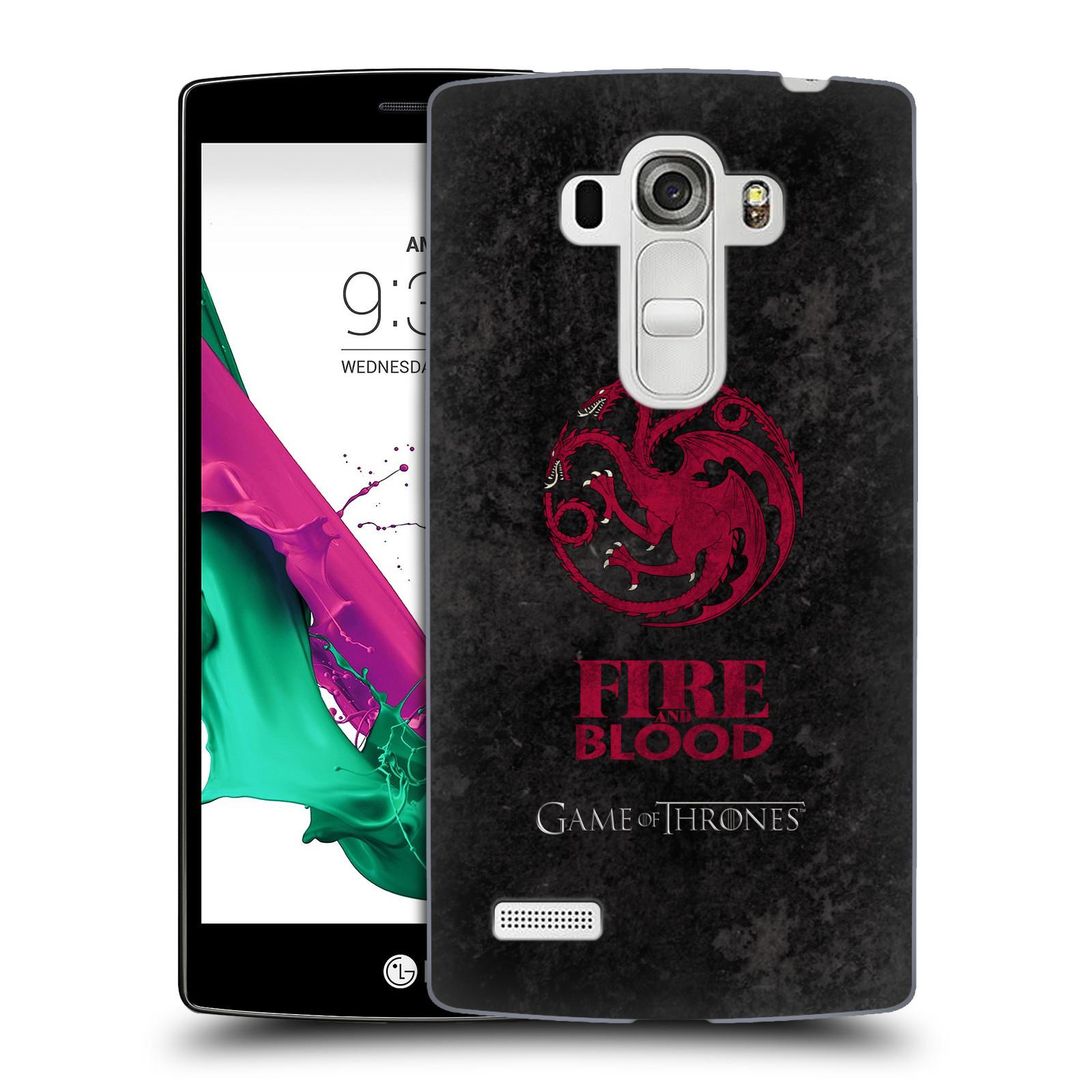 Plastové pouzdro na mobil LG G4s HEAD CASE Hra o trůny - Sigils Targaryen - Fire and Blood (Plastový kryt či obal na mobilní telefon s licencovaným motivem Hra o trůny - Game Of Thrones pro LG G4s H735n)