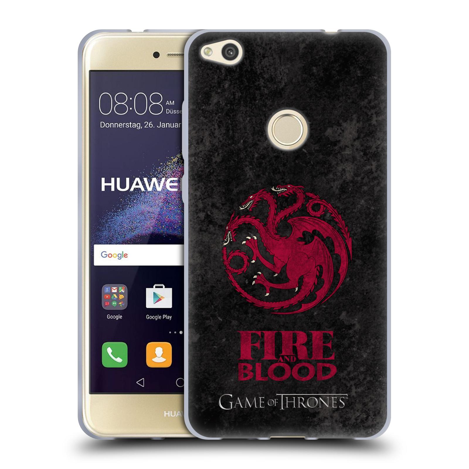 Silikonové pouzdro na mobil Huawei P9 Lite (2017) HEAD CASE Hra o trůny - Sigils Targaryen - Fire and Blood