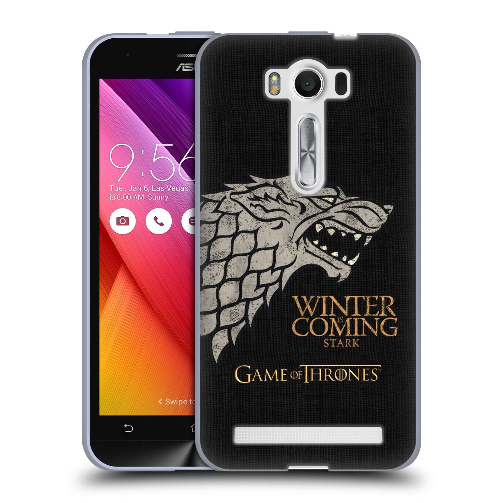 """Silikonové pouzdro na mobil Asus ZenFone 2 Laser ZE500KL HEAD CASE Hra o trůny - Stark House Motto (Silikonový kryt či obal na mobilní telefon s licencovaným motivem Hra o trůny - Game Of Thrones pro Asus ZenFone 2 Laser ZE500KL s 5"""" displejem)"""