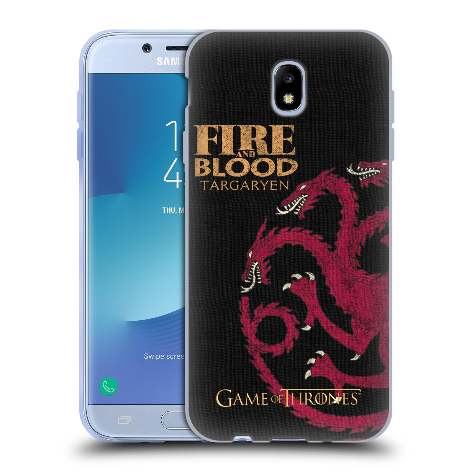 Silikonové pouzdro na mobil Samsung Galaxy J7 (2017) - Head Case - Hra o trůny - Targaryen House Motto
