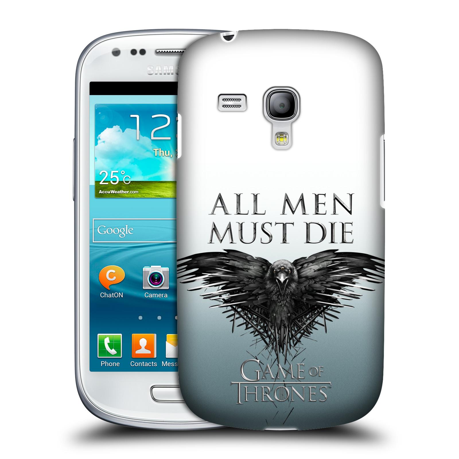 Plastové pouzdro na mobil Samsung Galaxy S III Mini VE HEAD CASE Hra o trůny - All men must die (Kryt či obal na mobilní telefon s licencovaným motivem Hra o trůny / Game of Thrones pro Samsung Galaxy S3 Mini VE GT-i8200)