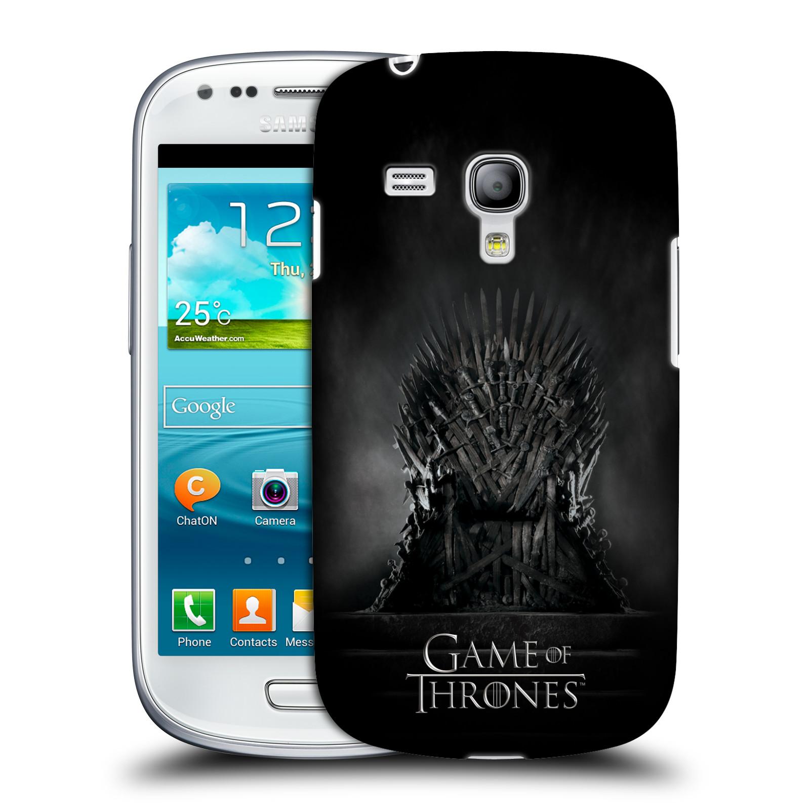 Plastové pouzdro na mobil Samsung Galaxy S III Mini VE HEAD CASE Hra o trůny - Železný trůn (Kryt či obal na mobilní telefon s licencovaným motivem Hra o trůny / Game Of Thrones pro Samsung Galaxy S3 Mini VE GT-i8200)