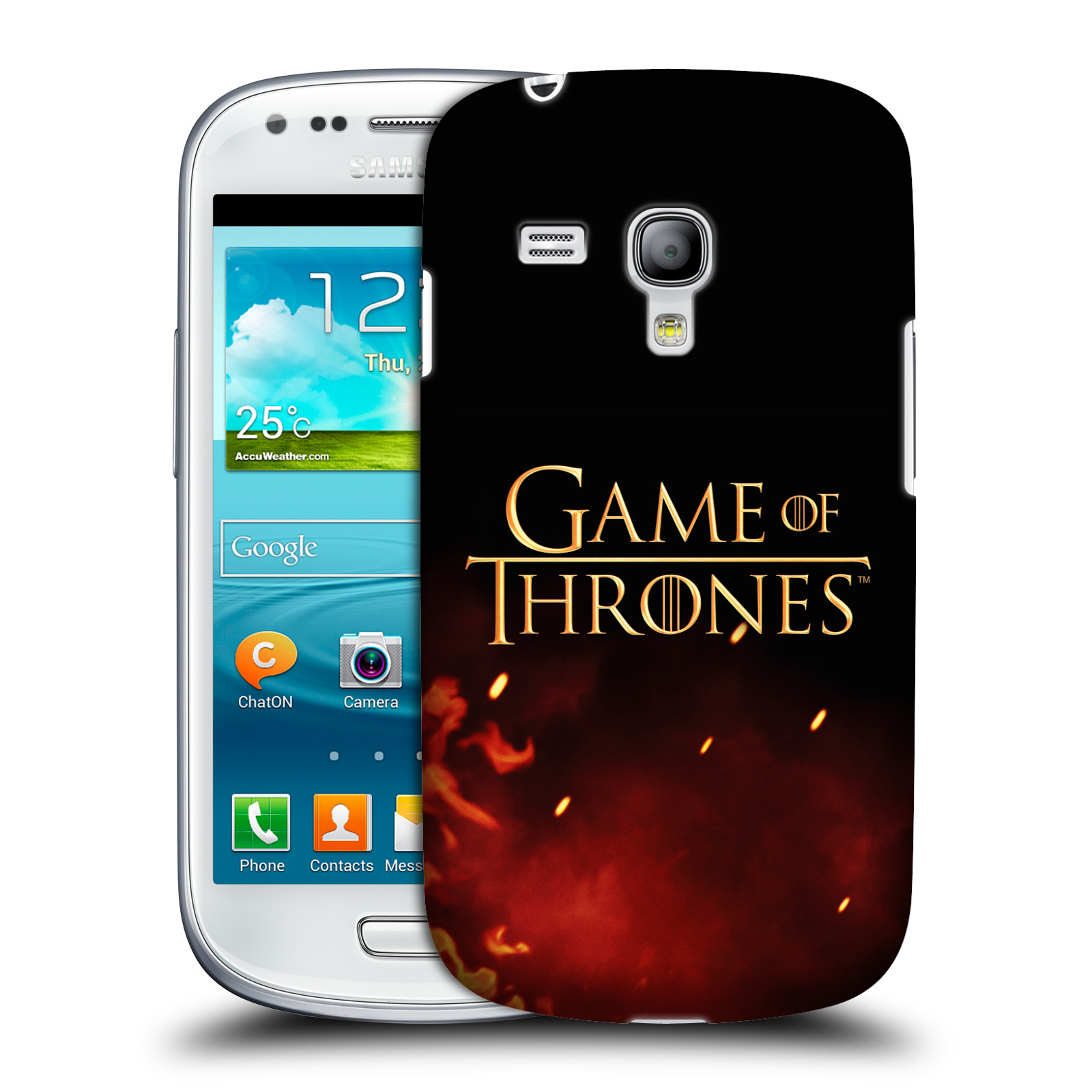Plastové pouzdro na mobil Samsung Galaxy S III Mini VE HEAD CASE Hra o trůny - Ohnivé logo (Kryt či obal na mobilní telefon s licencovaným motivem Hra o trůny / Game Of Thrones pro Samsung Galaxy S3 Mini VE GT-i8200)