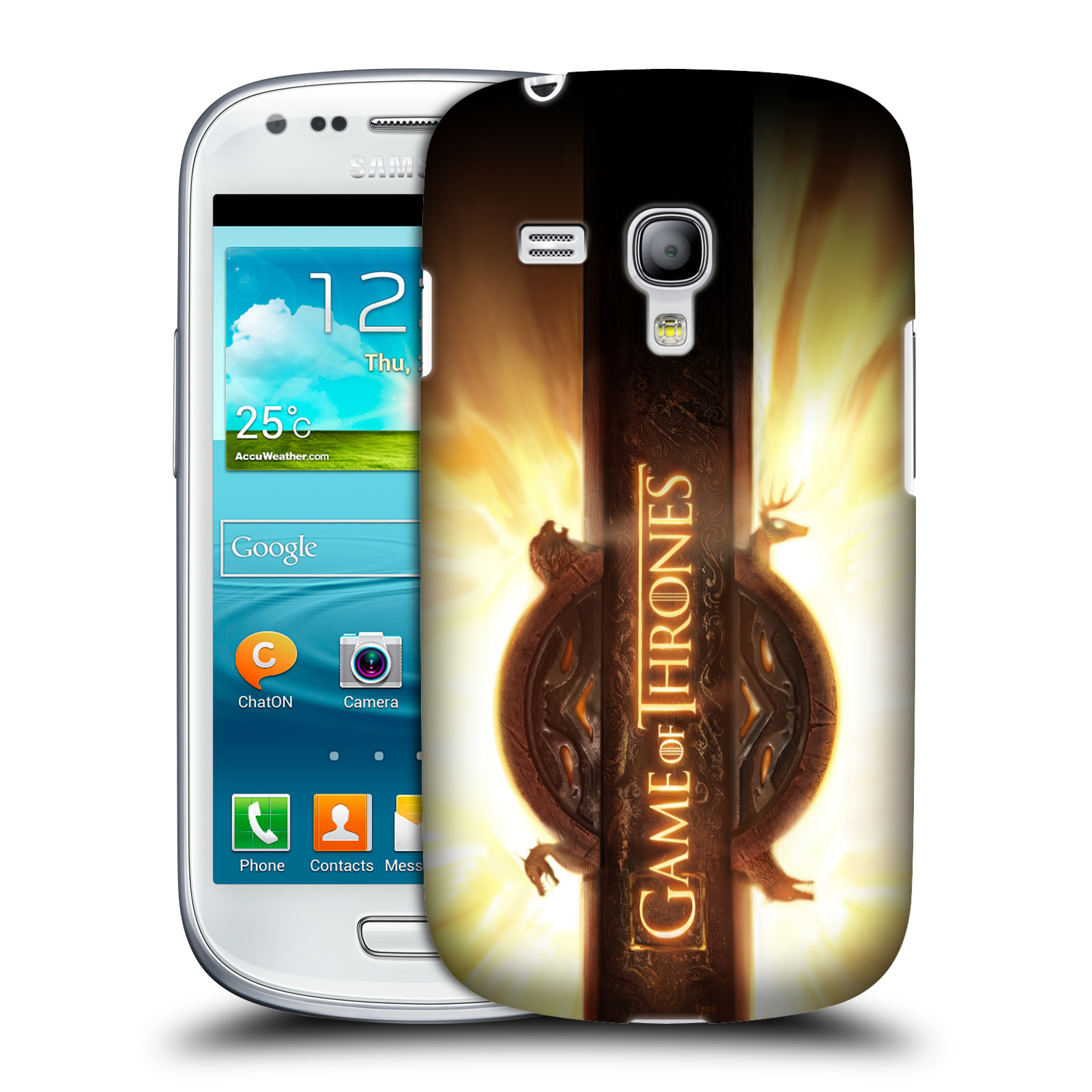 Plastové pouzdro na mobil Samsung Galaxy S III Mini VE HEAD CASE Hra o trůny - Opening Sequence Logo (Kryt či obal na mobilní telefon s licencovaným motivem Hra o trůny / Game of Thrones pro Samsung Galaxy S3 Mini VE GT-i8200)