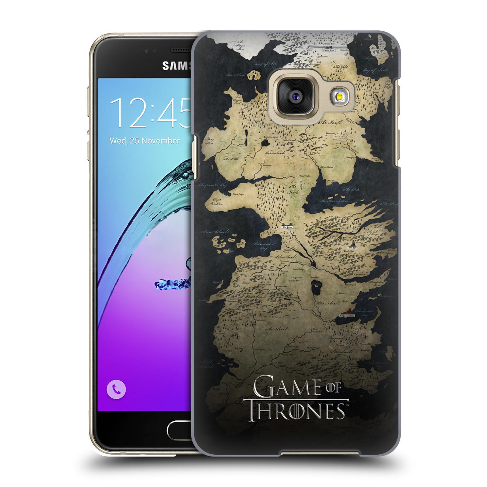 Plastové pouzdro na mobil Samsung Galaxy A3 (2016) HEAD CASE Hra o trůny - Mapa západozemí