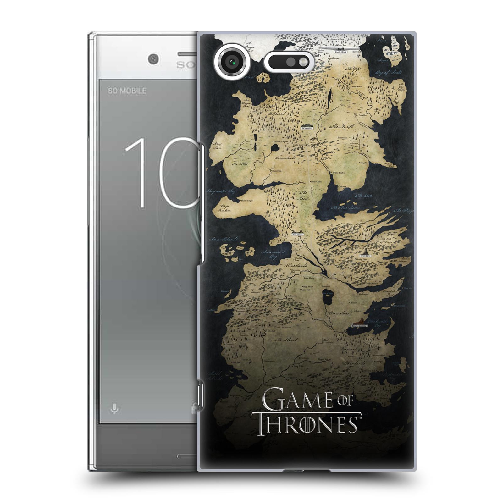 Plastové pouzdro na mobil Sony Xperia XZ Premium Head Case - Hra o trůny - Mapa západozemí