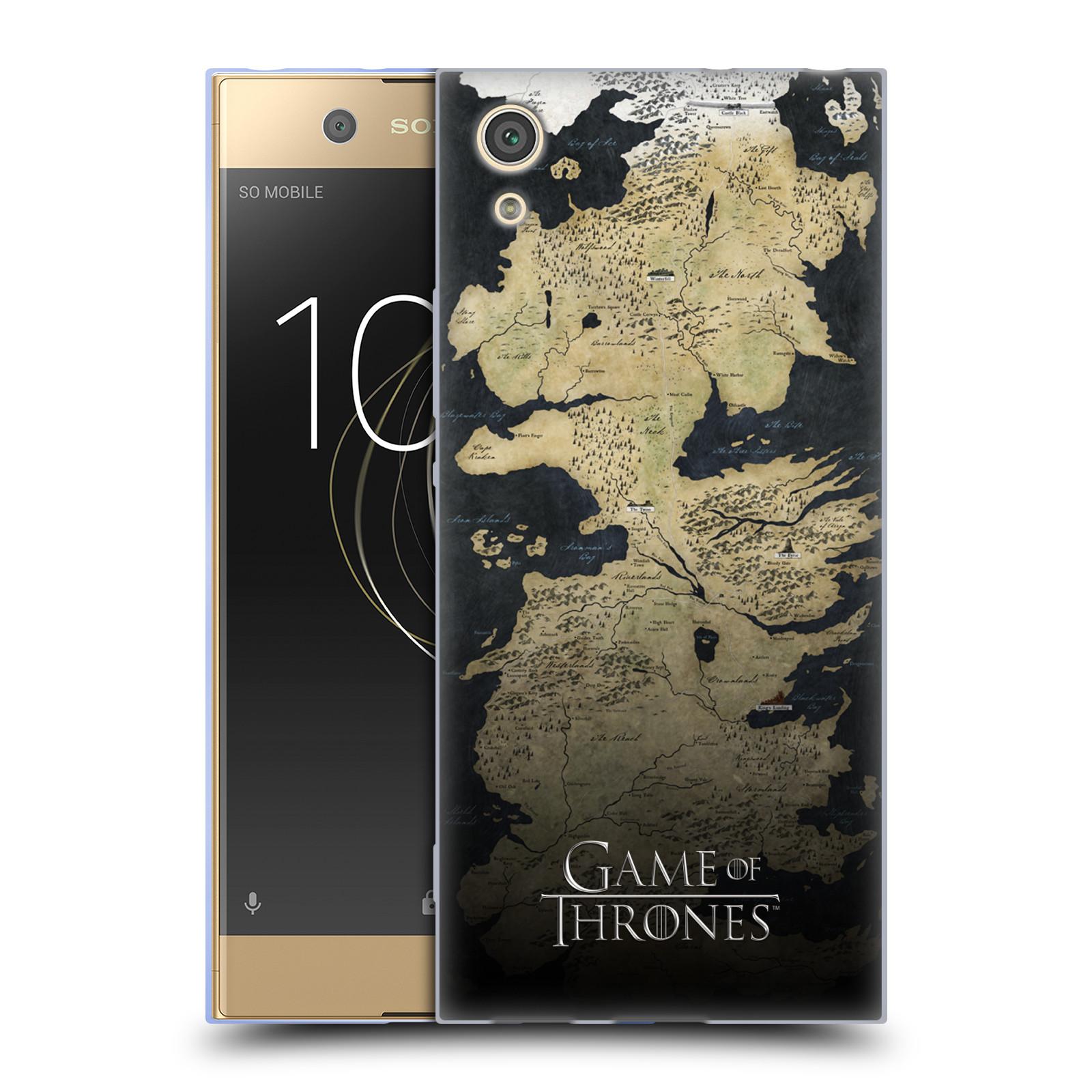 Silikonové pouzdro na mobil Sony Xperia XA1 - Head Case - Hra o trůny - Mapa západozemí
