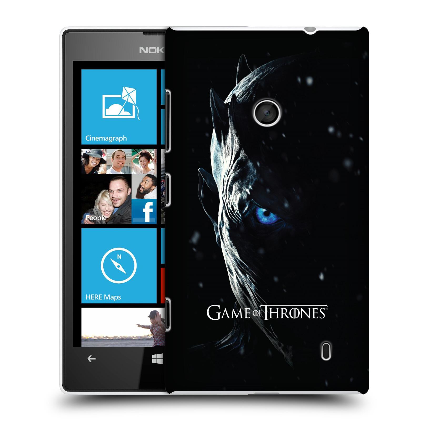 Plastové pouzdro na mobil Nokia Lumia 520 - Head Case - Hra o trůny - Night King