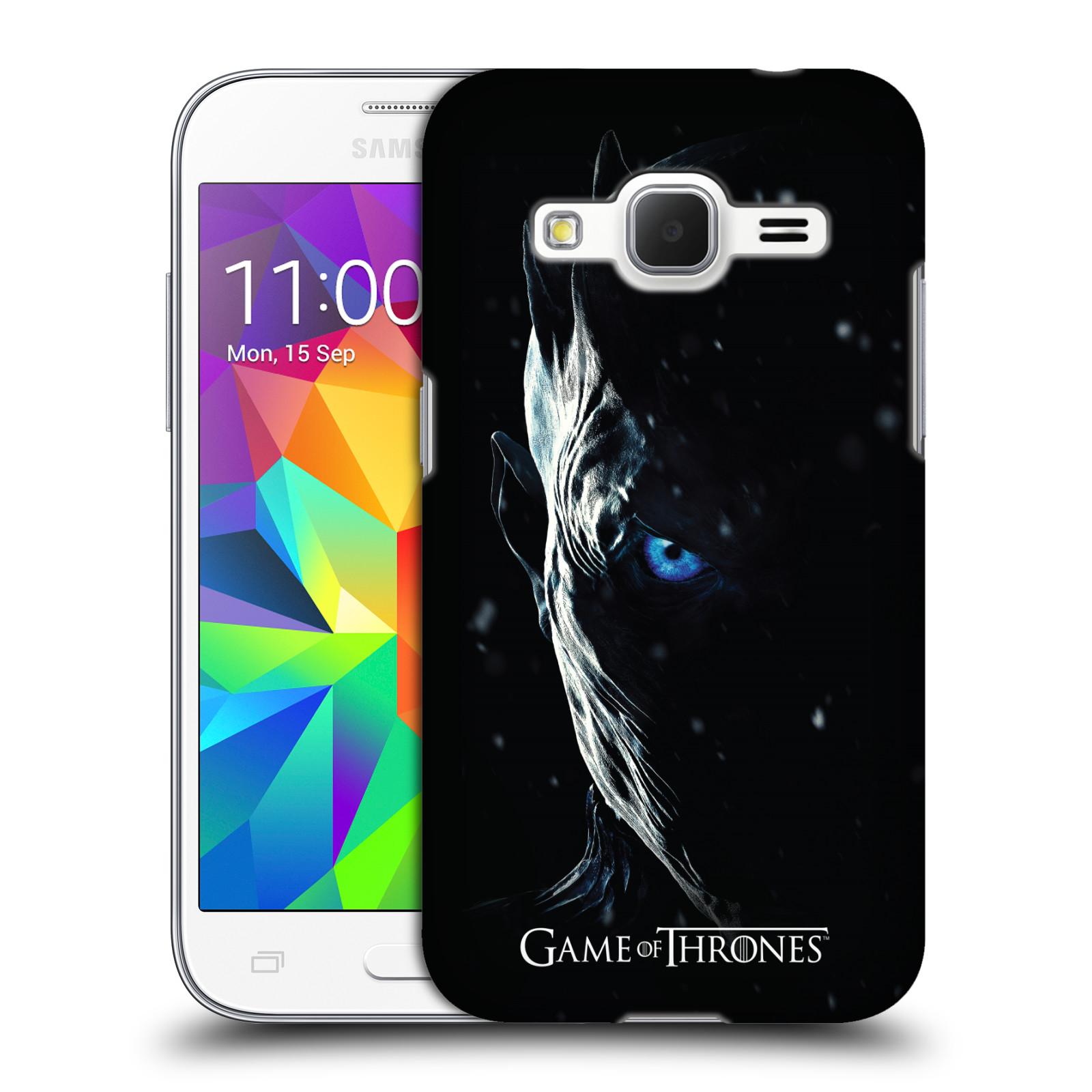 Plastové pouzdro na mobil Samsung Galaxy Core Prime LTE - Head Case - Hra o trůny - Night King (Plastový kryt či obal na mobilní telefon s motivem Game of Thrones - Night King - Season 7 pro Samsung Galaxy Core Prime LTE SM-G360)