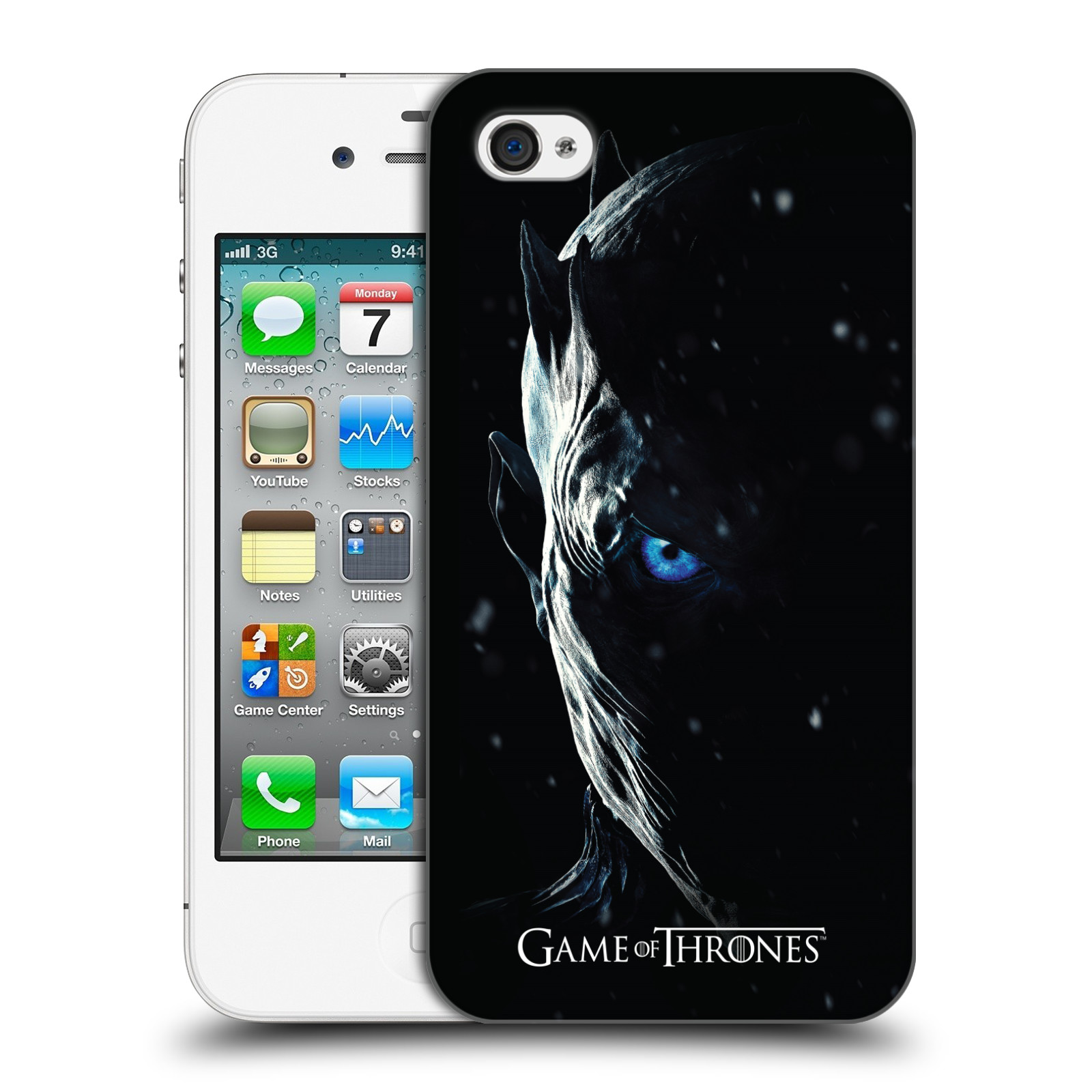 Plastové pouzdro na mobil Apple iPhone 4 a 4S - Head Case - Hra o trůny - Night King
