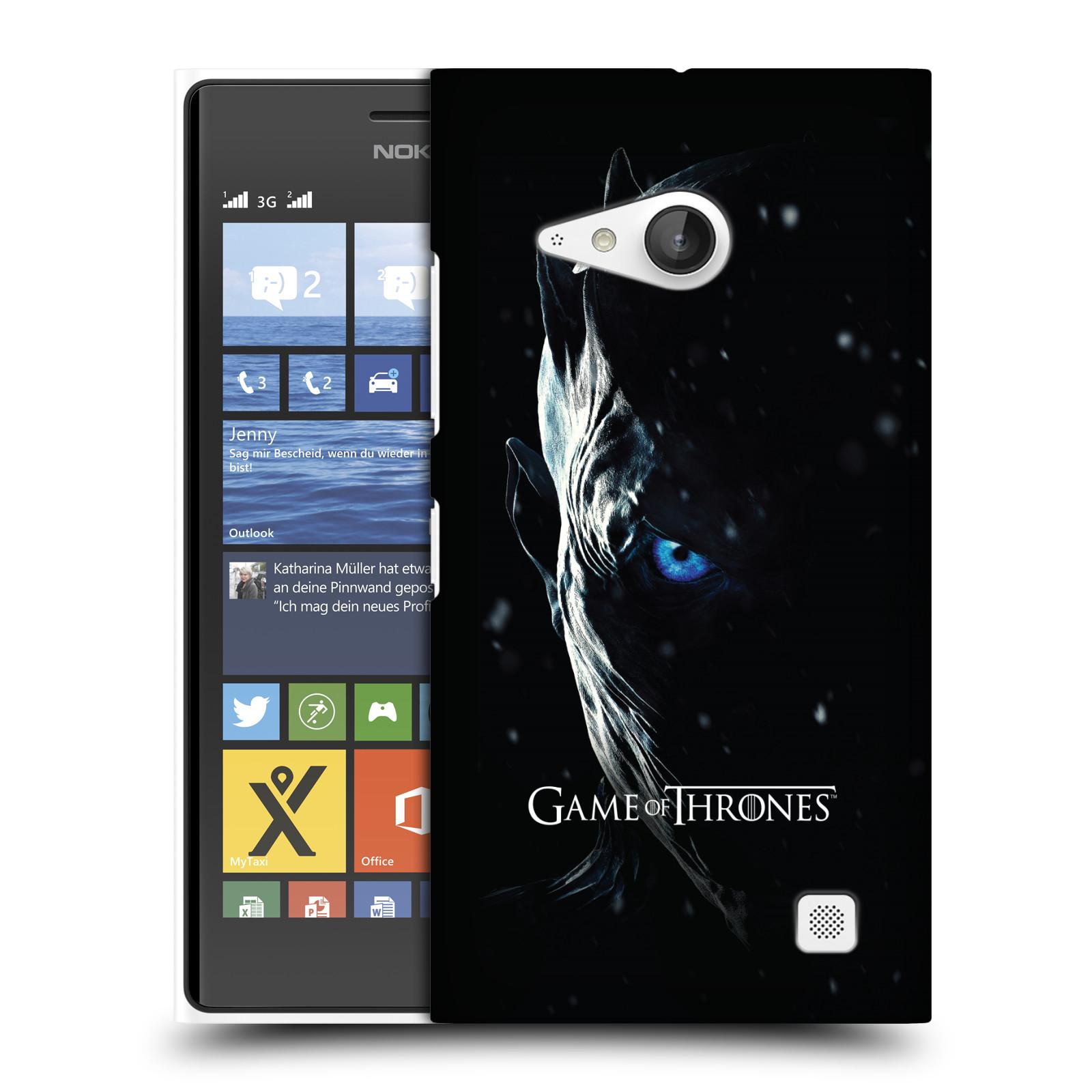 Plastové pouzdro na mobil Nokia Lumia 730 Dual SIM - Head Case - Hra o trůny - Night King (Plastový kryt či obal na mobilní telefon s motivem Game of Thrones - Night King - Season 7 pro Nokia Lumia 730 Dual SIM)