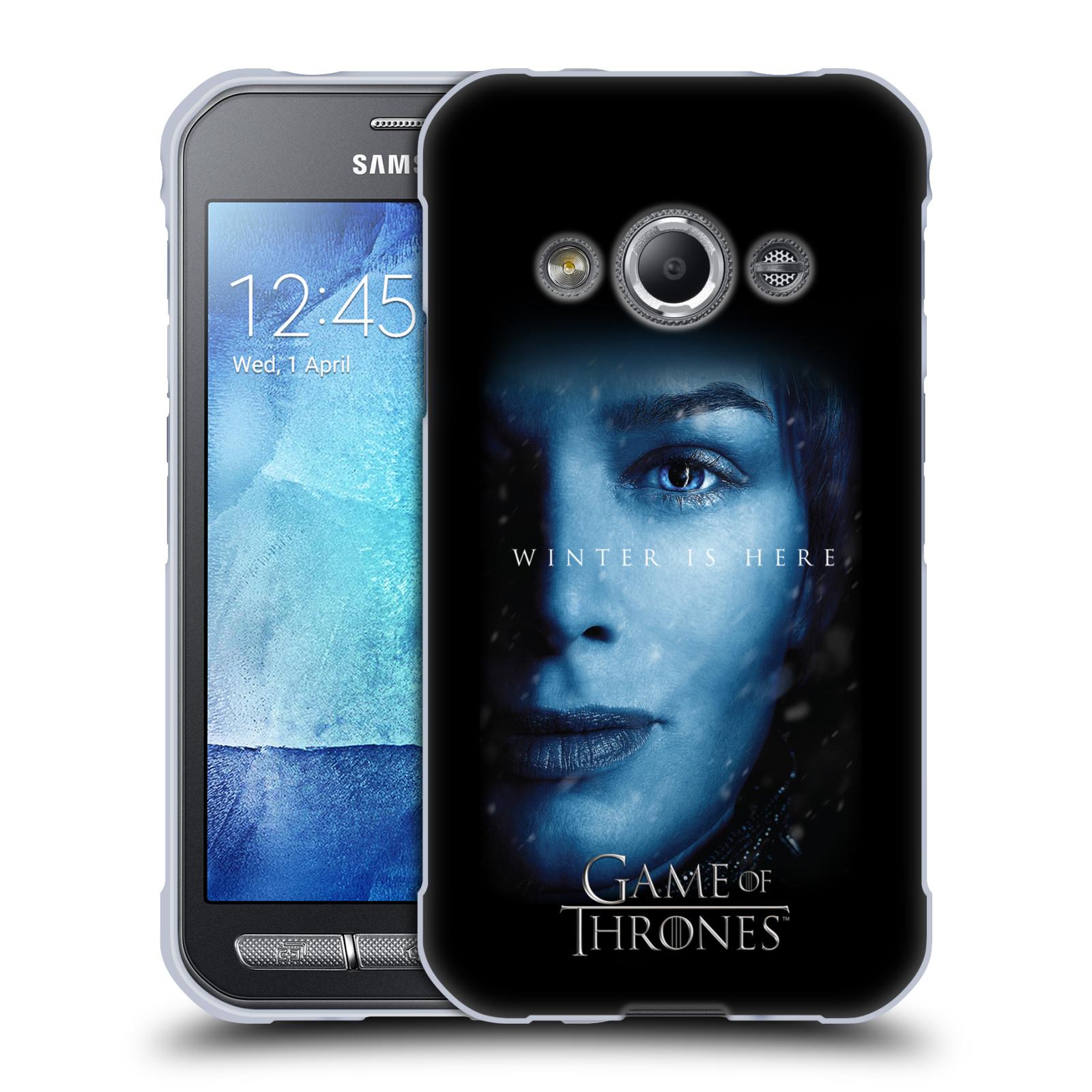 Silikonové pouzdro na mobil Samsung Galaxy Xcover 3 - Head Case - Hra o trůny - Cersei Lannister - Winter is here (Silikonový kryt či obal na mobilní telefon s motivem Game of Thrones - Cersei Lannister - Winter is here - Season 7 pro Samsung Galaxy Xcove