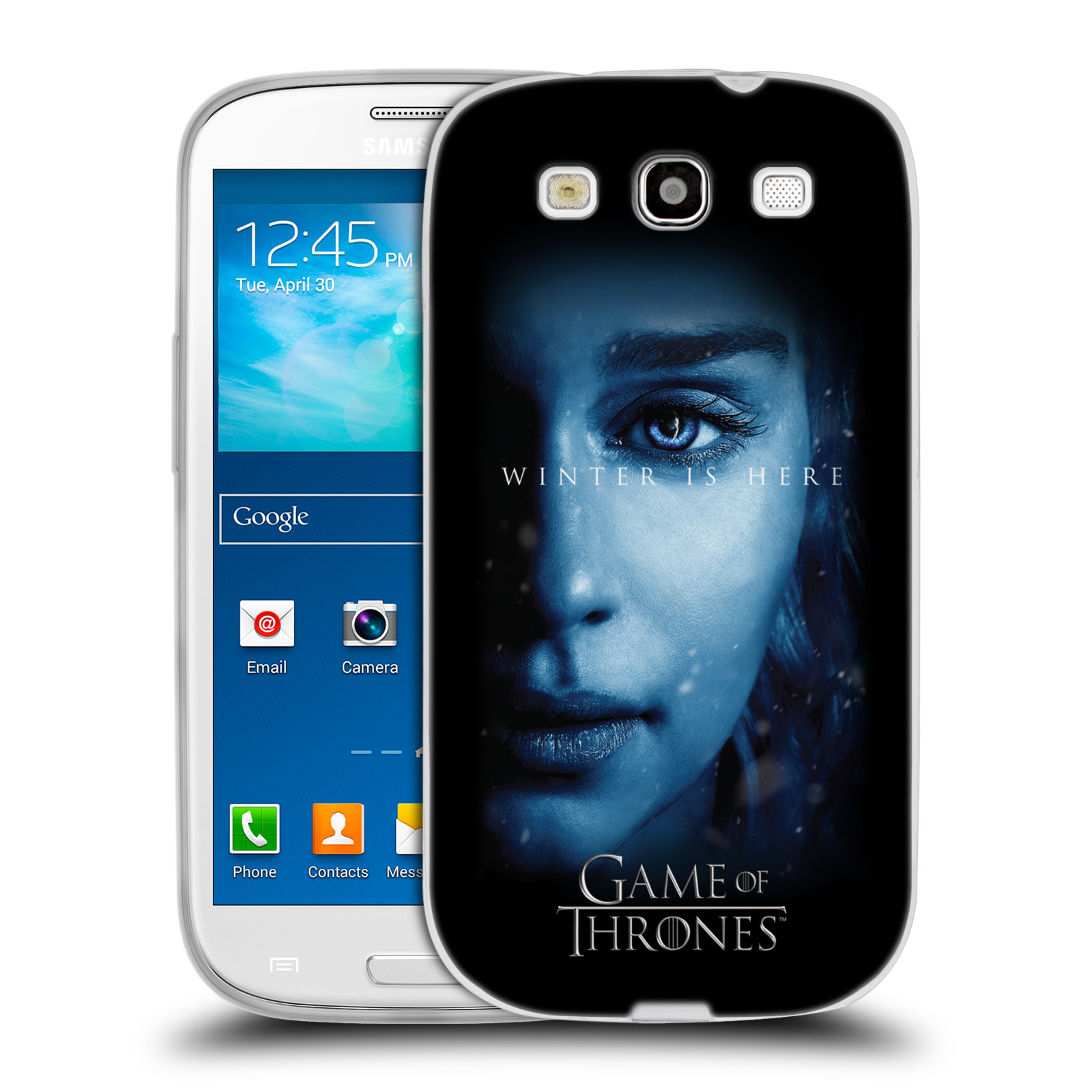 Silikonové pouzdro na mobil Samsung Galaxy S III - Head Case - Hra o trůny - Daenerys Targaryen - Winter is here (Silikonový kryt či obal na mobilní telefon s motivem Game of Thrones - Daenerys Targaryen - Winter is here - Season 7 pro Samsung Galaxy S II