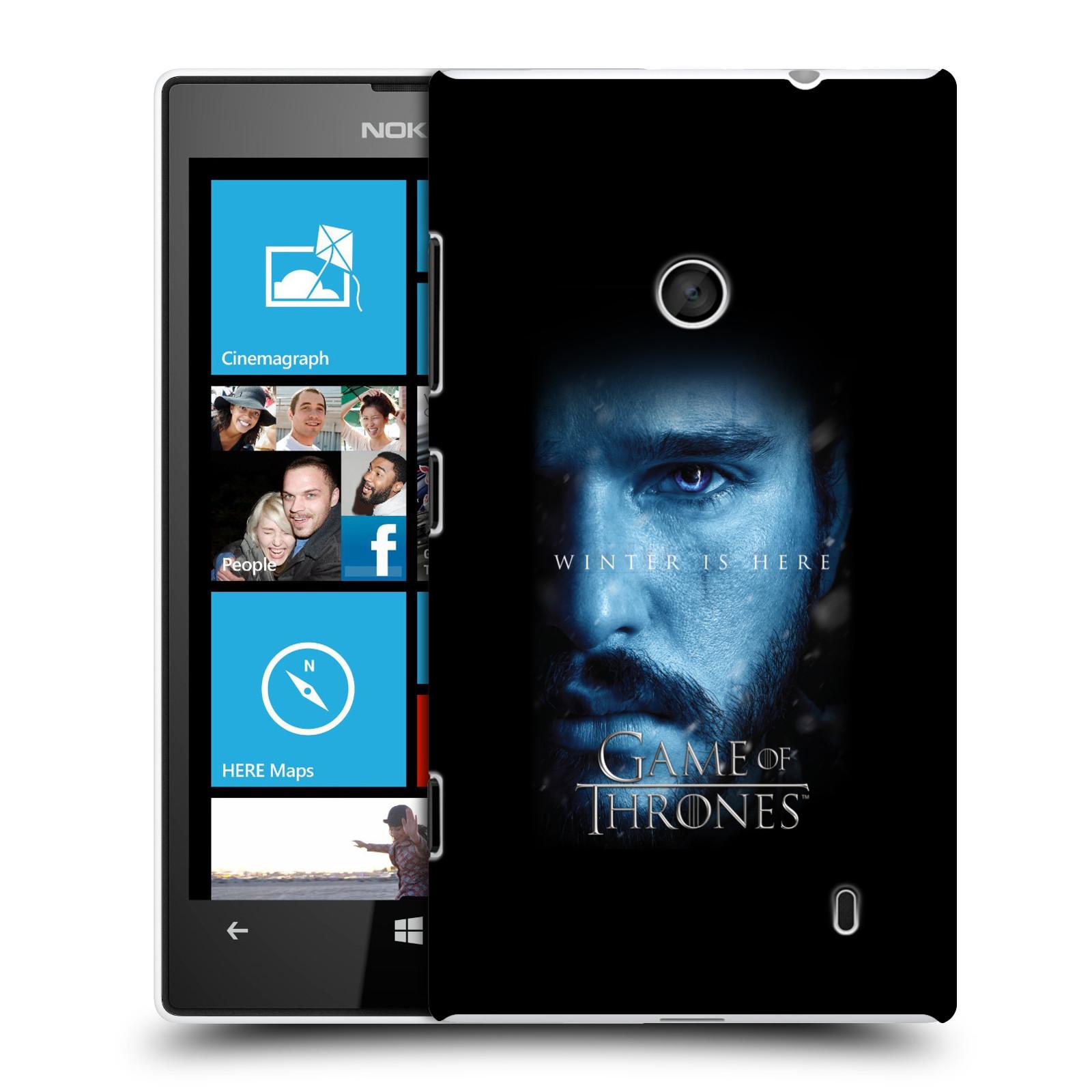Plastové pouzdro na mobil Nokia Lumia 520 - Head Case - Hra o trůny - Jon Snow - Winter is here (Plastový kryt či obal na mobilní telefon s motivem Game of Thrones - Jon Snow - Winter is here - Season 7 pro Nokia Lumia 520 )