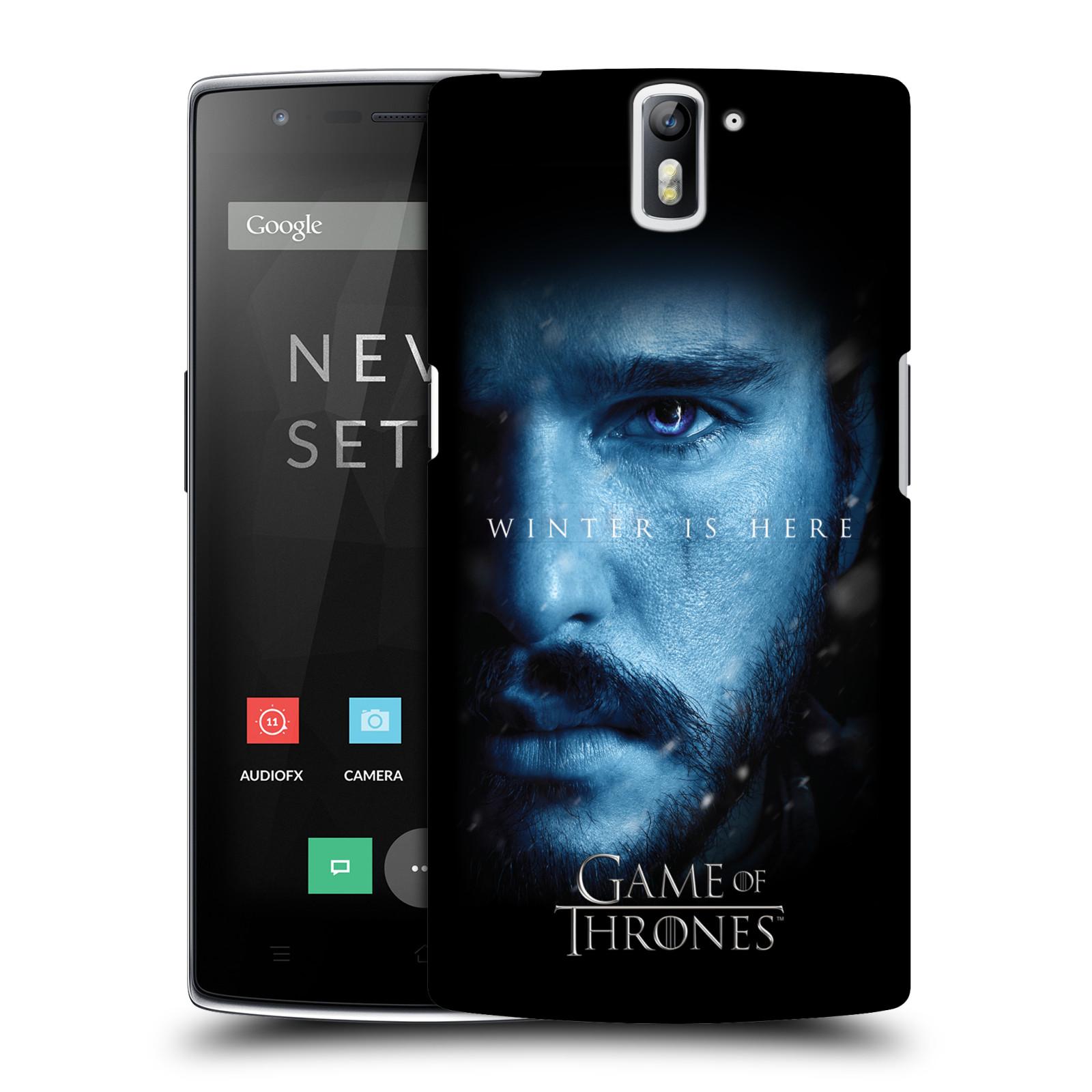 Plastové pouzdro na mobil OnePlus One - Head Case - Hra o trůny - Jon Snow - Winter is here (Plastový kryt či obal na mobilní telefon s motivem Game of Thrones - Jon Snow - Winter is here - Season 7 pro OnePlus One)