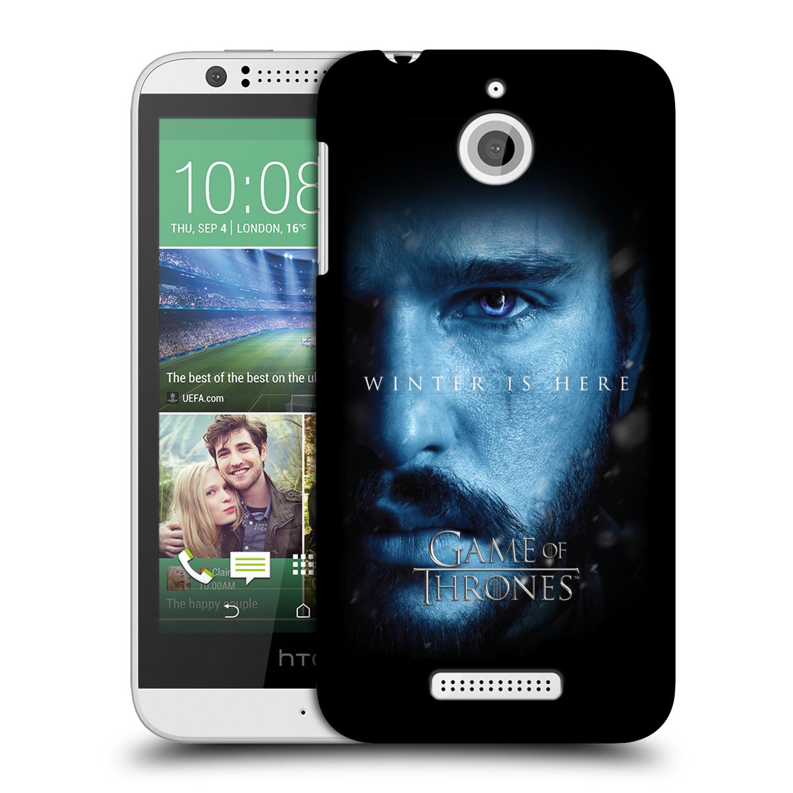 Plastové pouzdro na mobil HTC Desire 510 - Head Case - Hra o trůny - Jon Snow - Winter is here (Plastový kryt či obal na mobilní telefon s motivem Game of Thrones - Jon Snow - Winter is here - Season 7 pro HTC Desire 510)