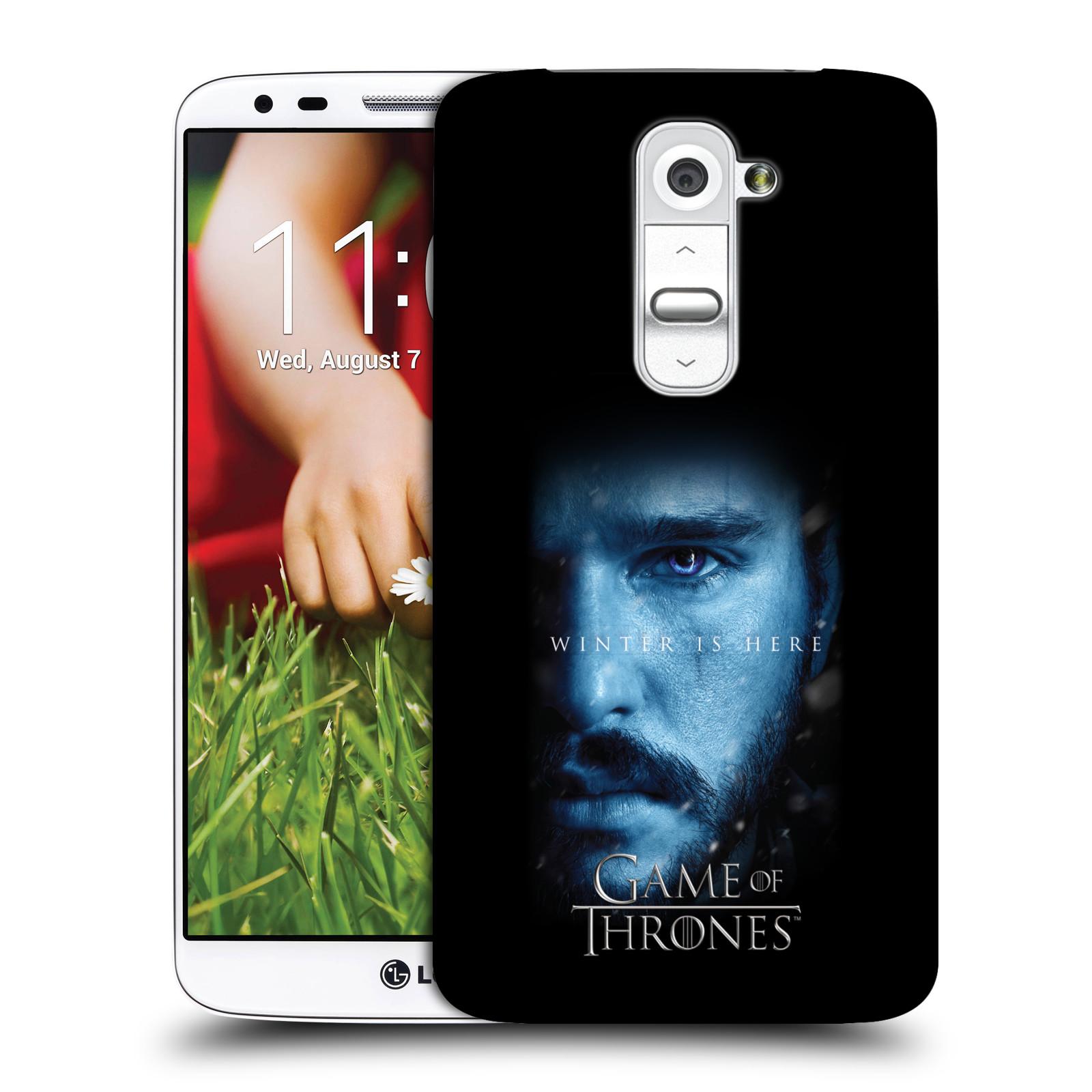 Plastové pouzdro na mobil LG G2 - Head Case - Hra o trůny - Jon Snow - Winter is here (Plastový kryt či obal na mobilní telefon s motivem Game of Thrones - Jon Snow - Winter is here - Season 7 pro LG G2)