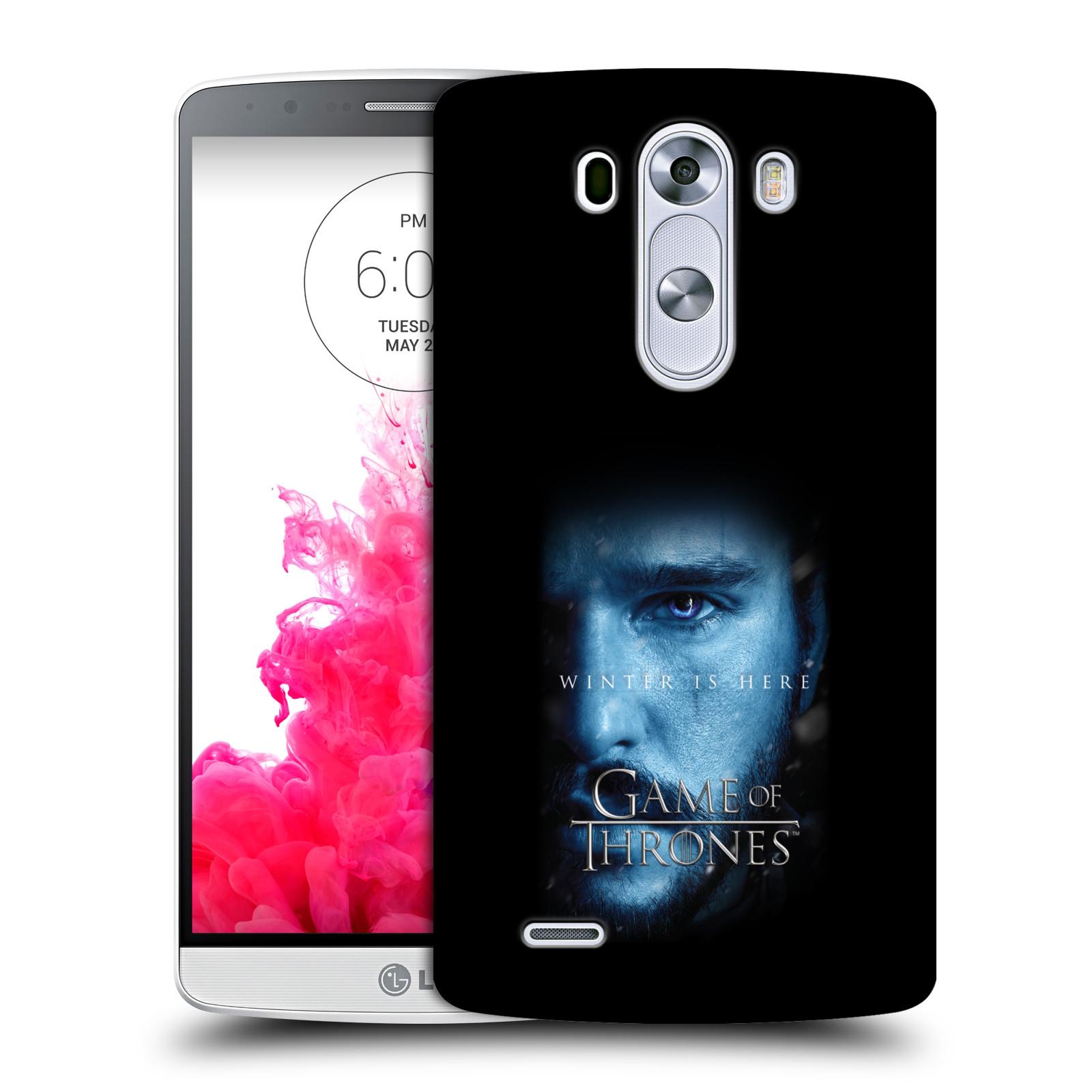 Plastové pouzdro na mobil LG G3 - Head Case - Hra o trůny - Jon Snow - Winter is here (Plastový kryt či obal na mobilní telefon s motivem Game of Thrones - Jon Snow - Winter is here - Season 7 pro LG G3)