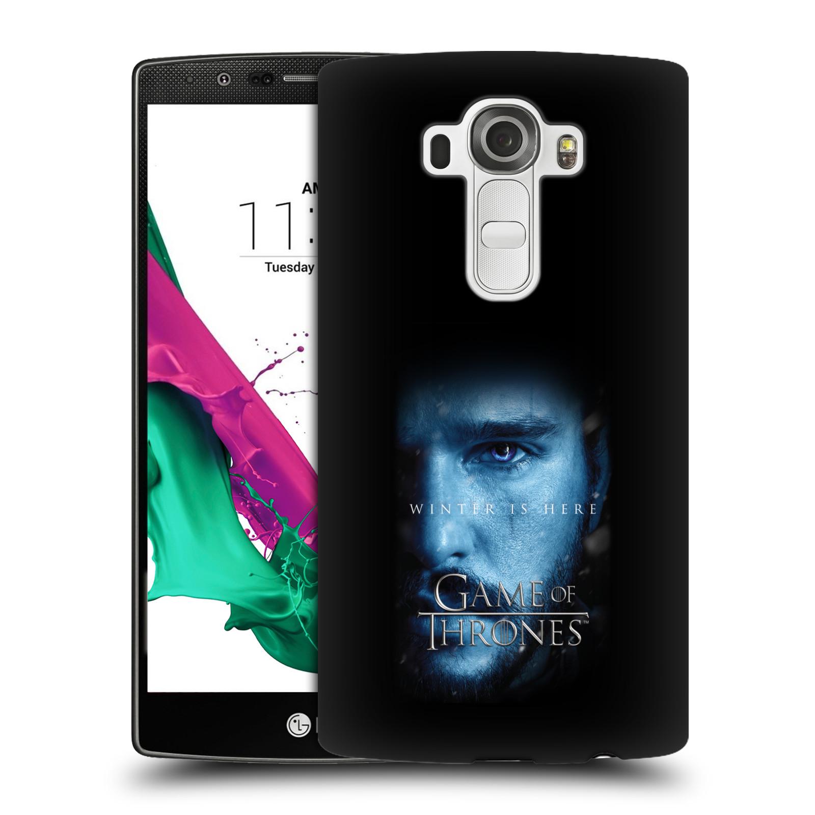 Plastové pouzdro na mobil LG G4 - Head Case - Hra o trůny - Jon Snow - Winter is here (Plastový kryt či obal na mobilní telefon s motivem Game of Thrones - Jon Snow - Winter is here - Season 7 pro LG G4)