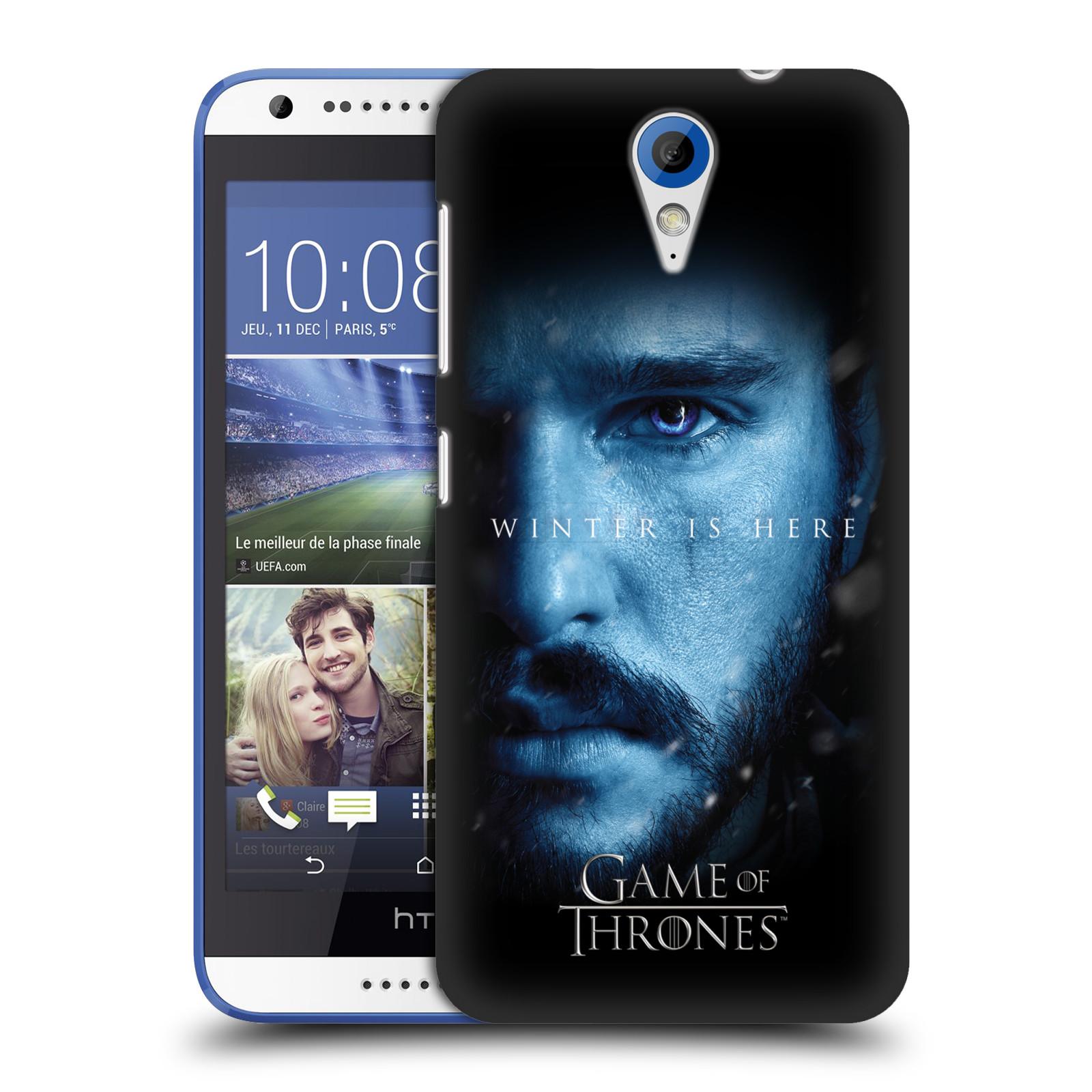 Plastové pouzdro na mobil HTC Desire 620 - Head Case - Hra o trůny - Jon Snow - Winter is here (Plastový kryt či obal na mobilní telefon s motivem Game of Thrones - Jon Snow - Winter is here - Season 7 pro HTC Desire 620)