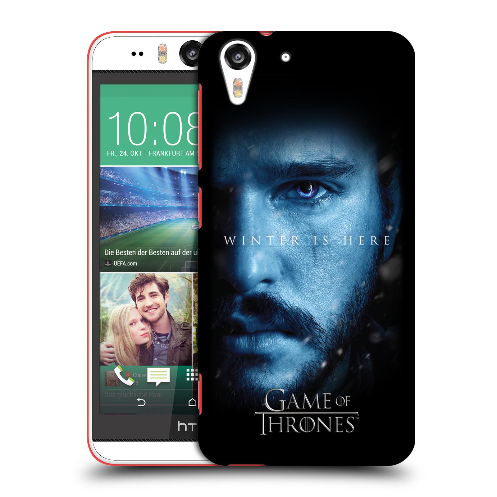 Plastové pouzdro na mobil HTC Desire EYE - Head Case - Hra o trůny - Jon Snow - Winter is here (Plastový kryt či obal na mobilní telefon s motivem Game of Thrones - Jon Snow - Winter is here - Season 7 pro HTC Desire EYE)