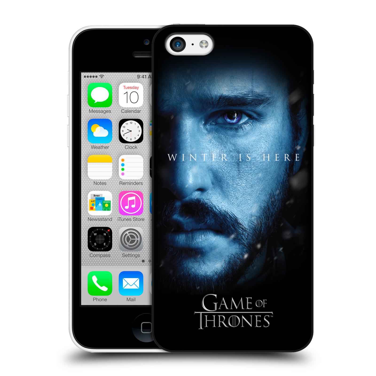 Plastové pouzdro na mobil Apple iPhone 5C - Head Case - Hra o trůny - Jon Snow - Winter is here (Plastový kryt či obal na mobilní telefon s motivem Game of Thrones - Jon Snow - Winter is here - Season 7 pro Apple iPhone 5C)