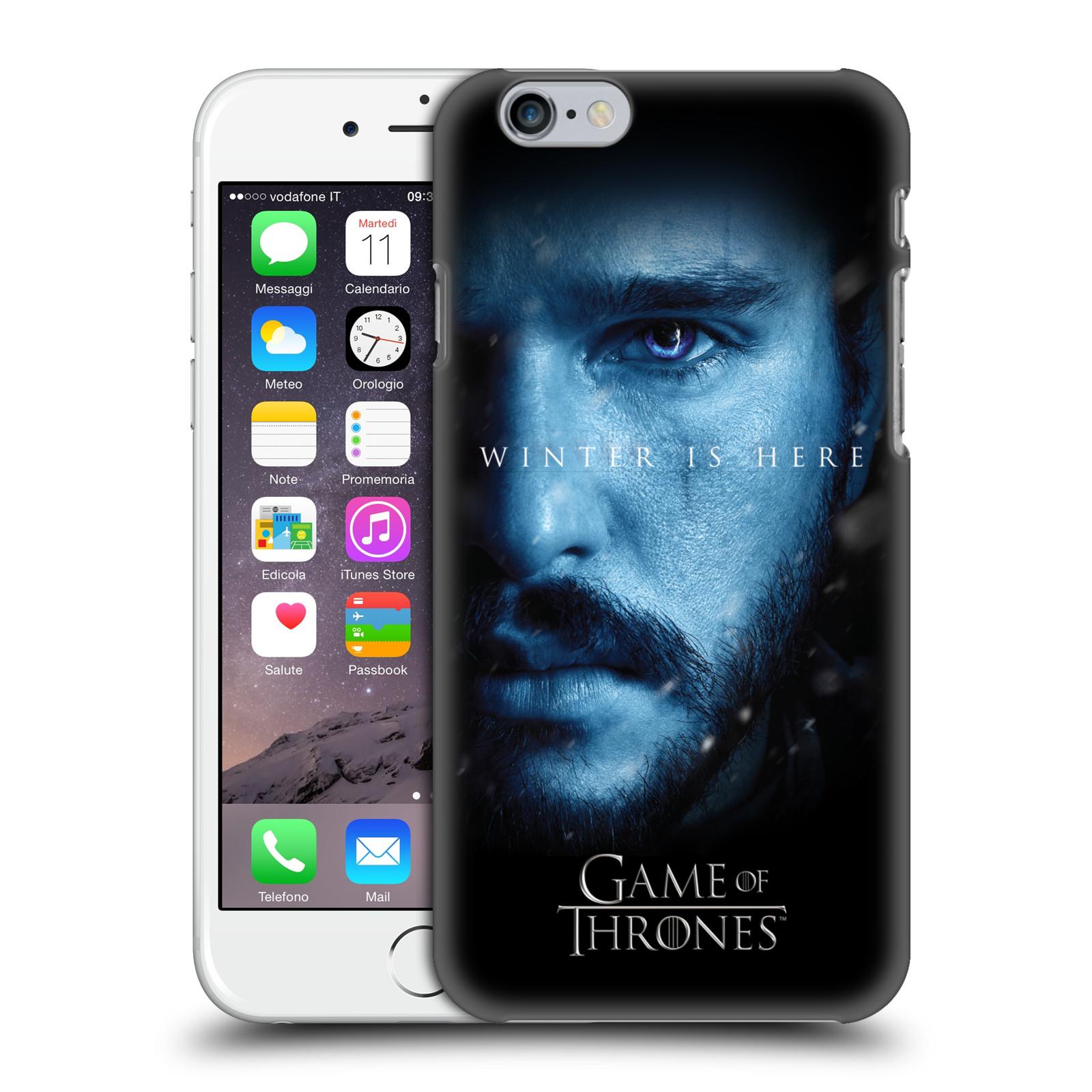 Plastové pouzdro na mobil Apple iPhone 6 - Head Case - Hra o trůny - Jon Snow - Winter is here (Plastový kryt či obal na mobilní telefon s motivem Game of Thrones - Jon Snow - Winter is here - Season 7 pro Apple iPhone 6)