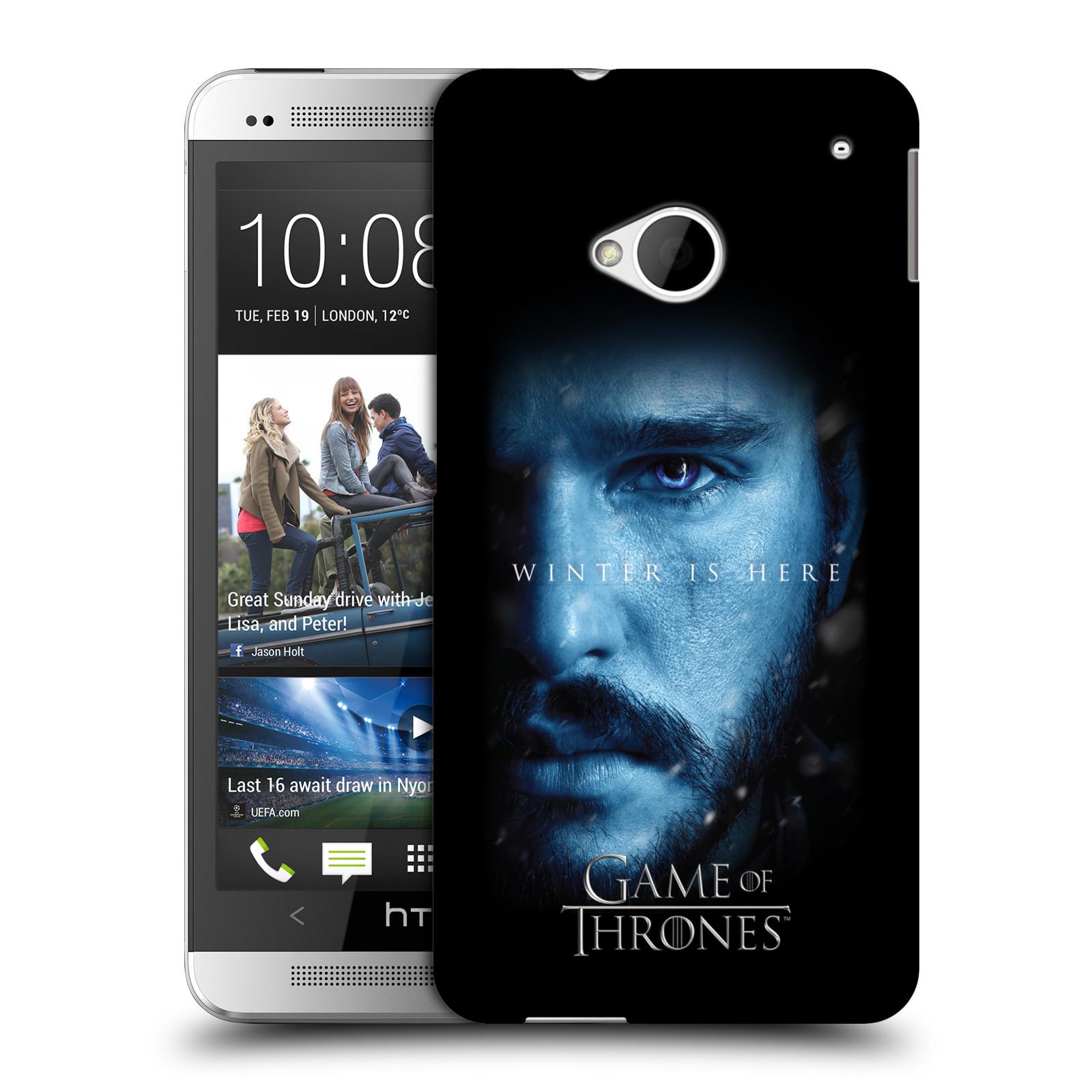 Plastové pouzdro na mobil HTC ONE M7 - Head Case - Hra o trůny - Jon Snow - Winter is here (Plastový kryt či obal na mobilní telefon s motivem Game of Thrones - Jon Snow - Winter is here - Season 7 pro HTC ONE M7)