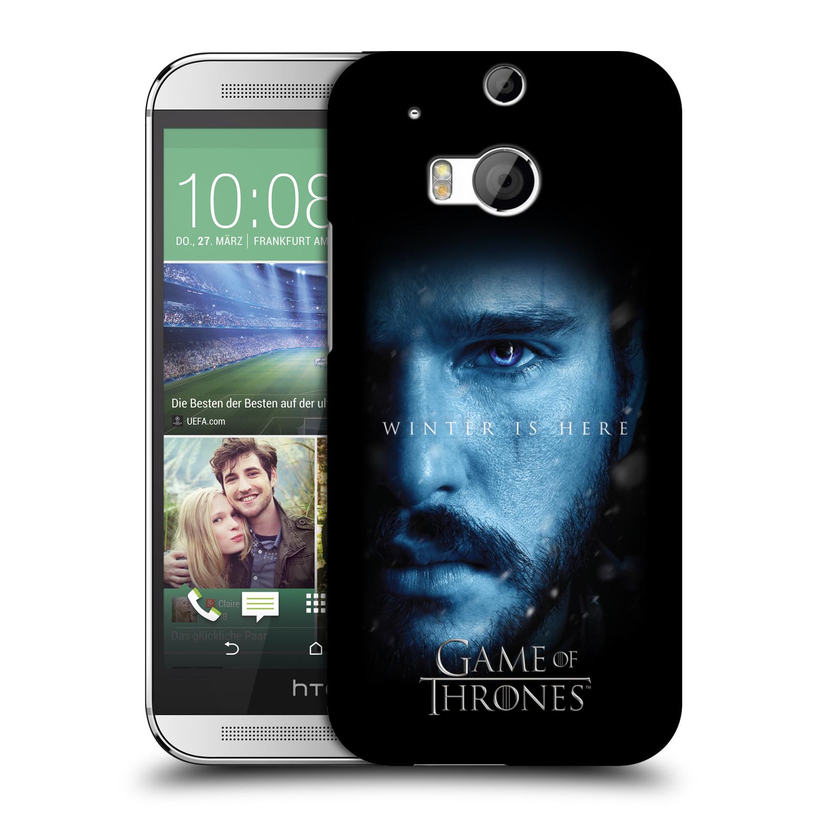 Plastové pouzdro na mobil HTC ONE M8 - Head Case - Hra o trůny - Jon Snow - Winter is here (Plastový kryt či obal na mobilní telefon s motivem Game of Thrones - Jon Snow - Winter is here - Season 7 pro HTC ONE M8)