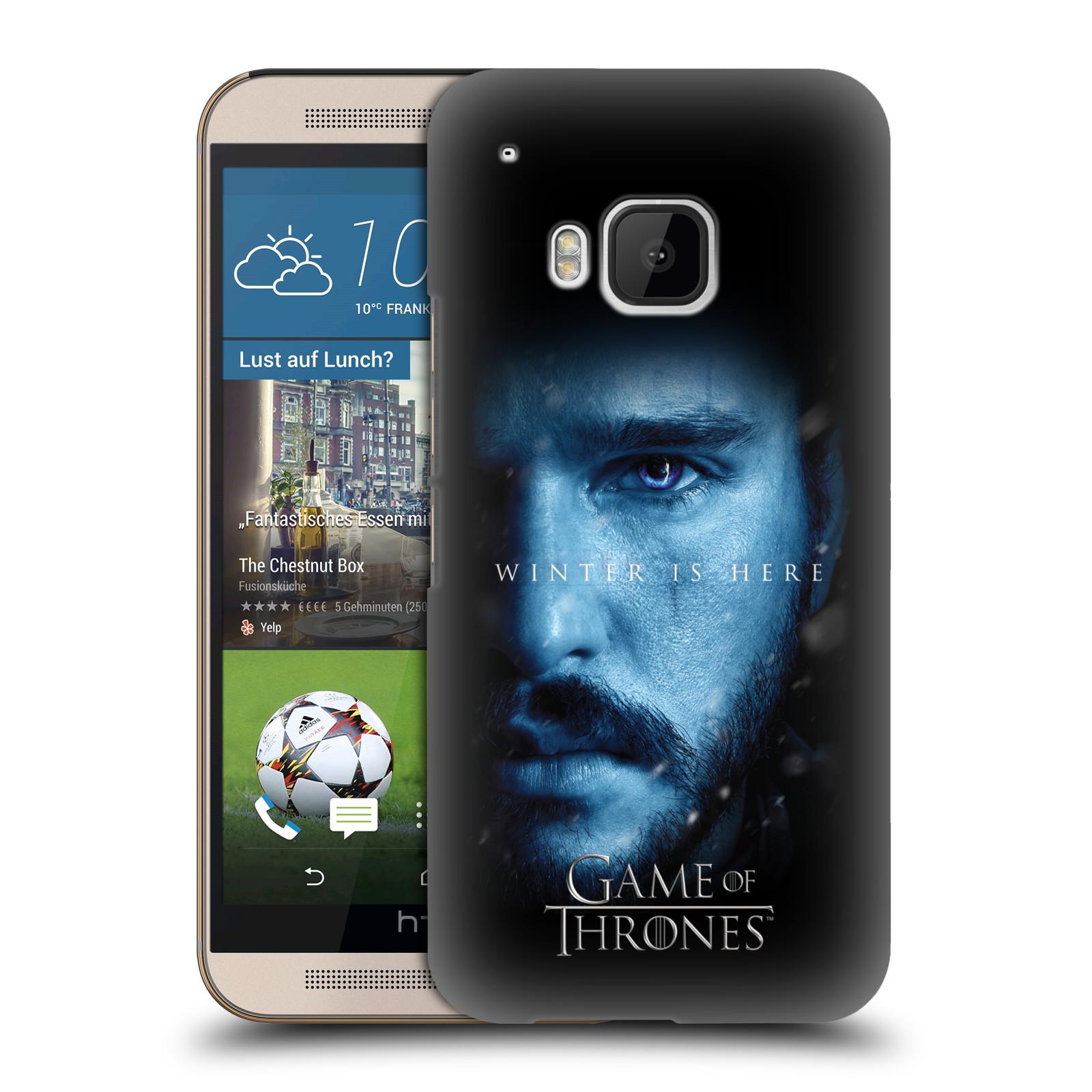Plastové pouzdro na mobil HTC ONE M9 - Head Case - Hra o trůny - Jon Snow - Winter is here (Plastový kryt či obal na mobilní telefon s motivem Game of Thrones - Jon Snow - Winter is here - Season 7 pro HTC ONE M9)